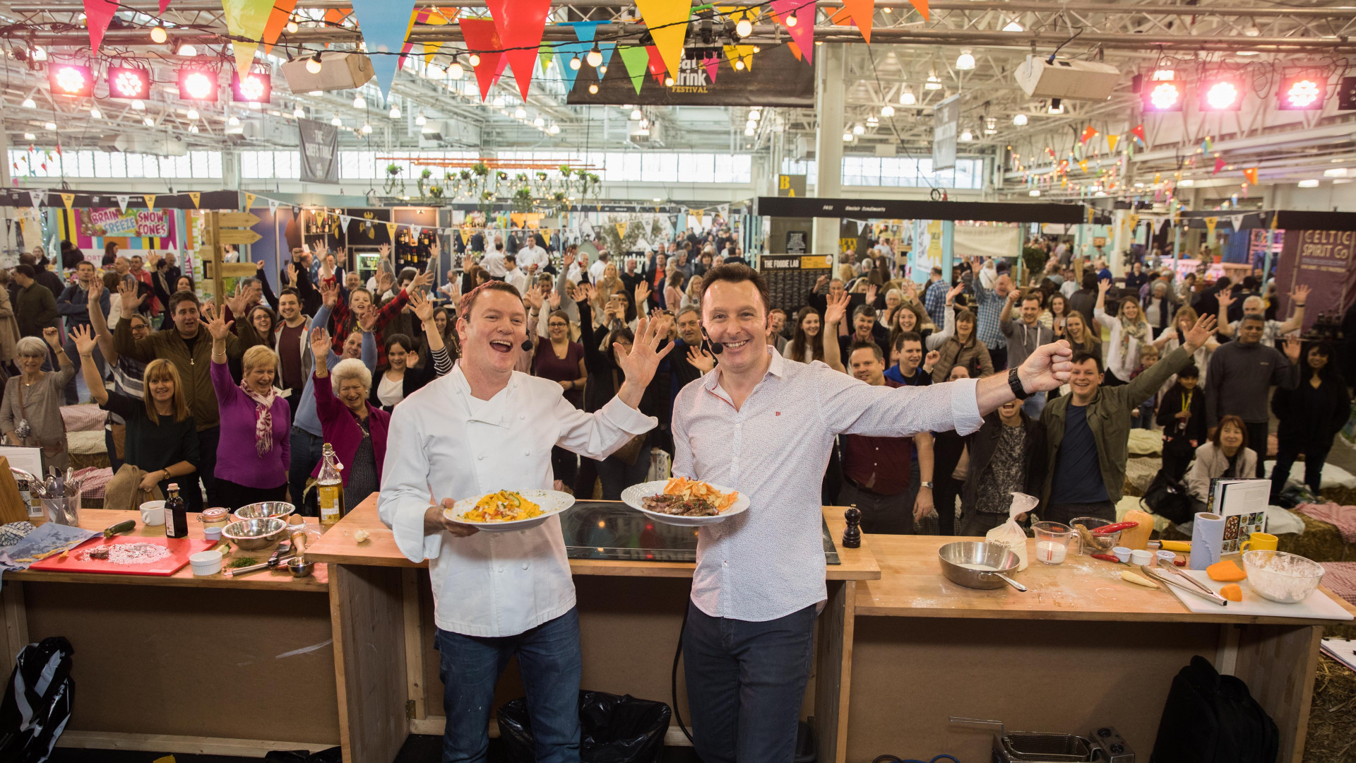 A cooking masterclass at Eat & Drink Festival