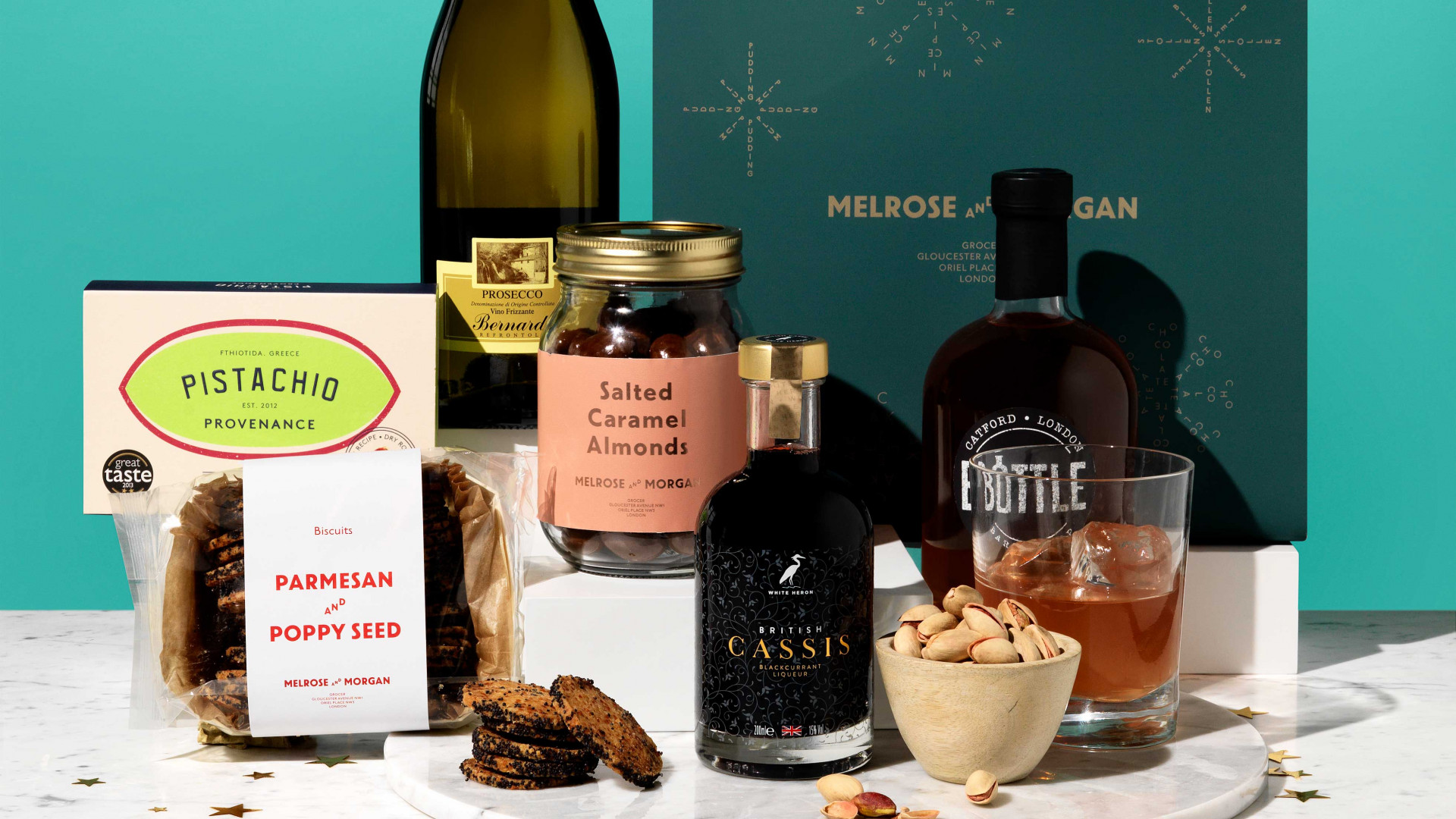 Gift hampers from Melrose and Morgan