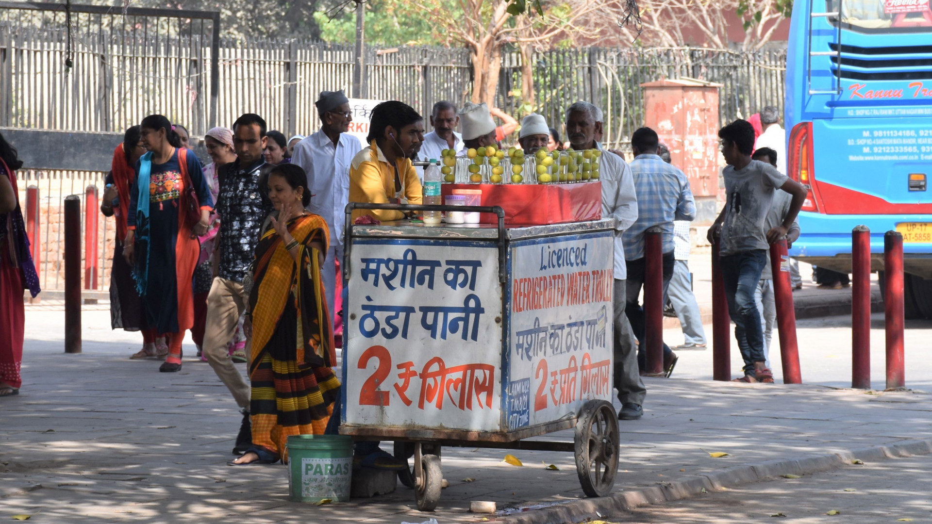 Water seller in Delhi