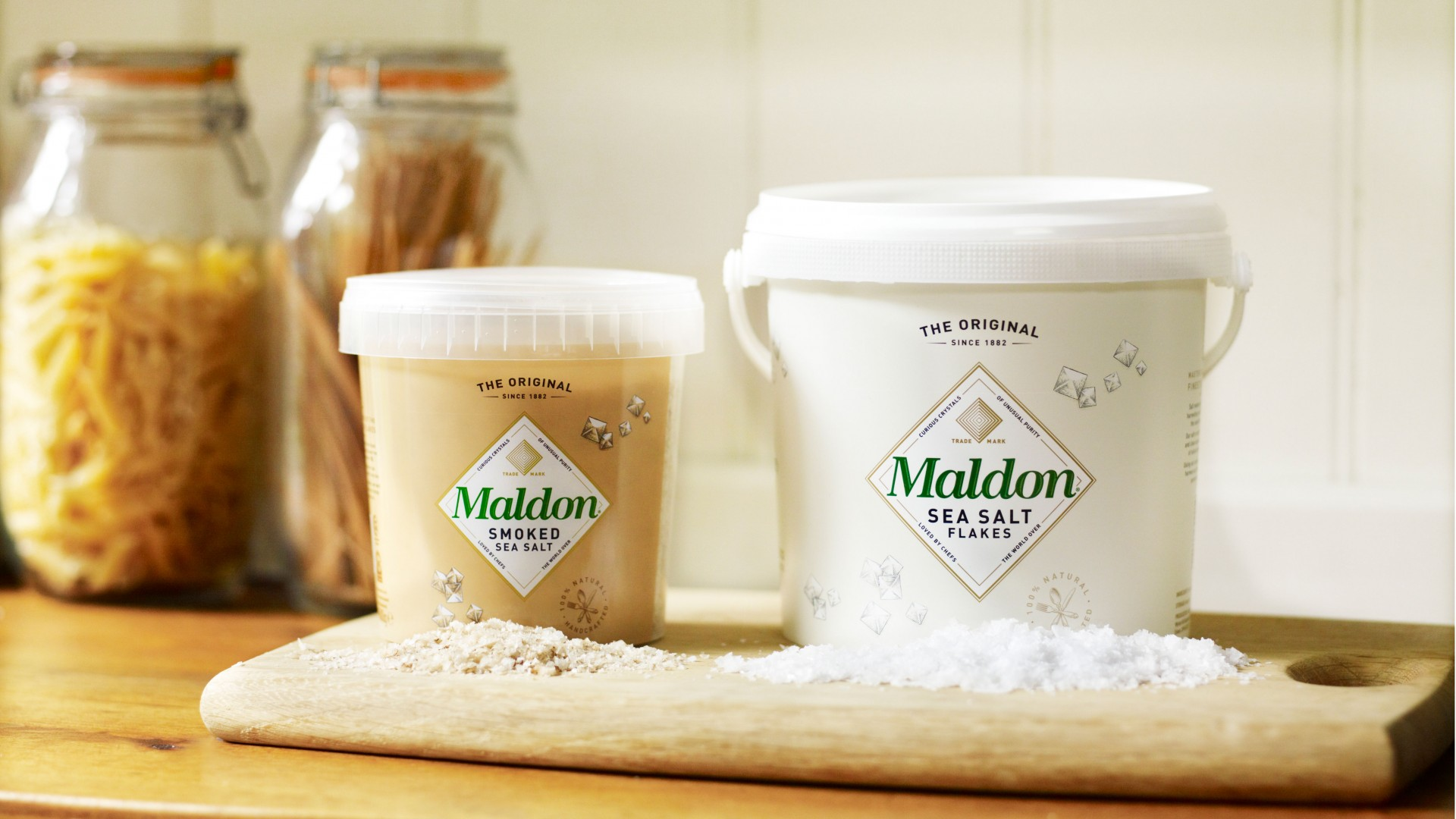 Smoked and classic Maldon salt