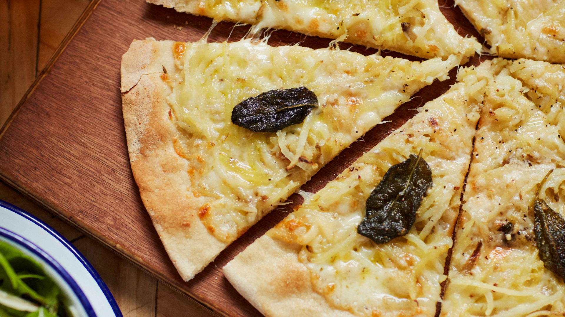 Crate's sage and truffle pizza