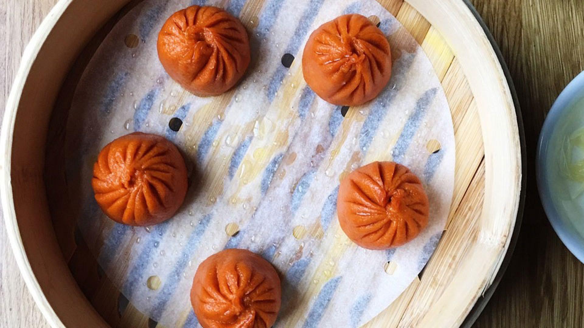 'Lucky red lantern' xiao long bao soup dumplings from Romilly Street's BaoziInn