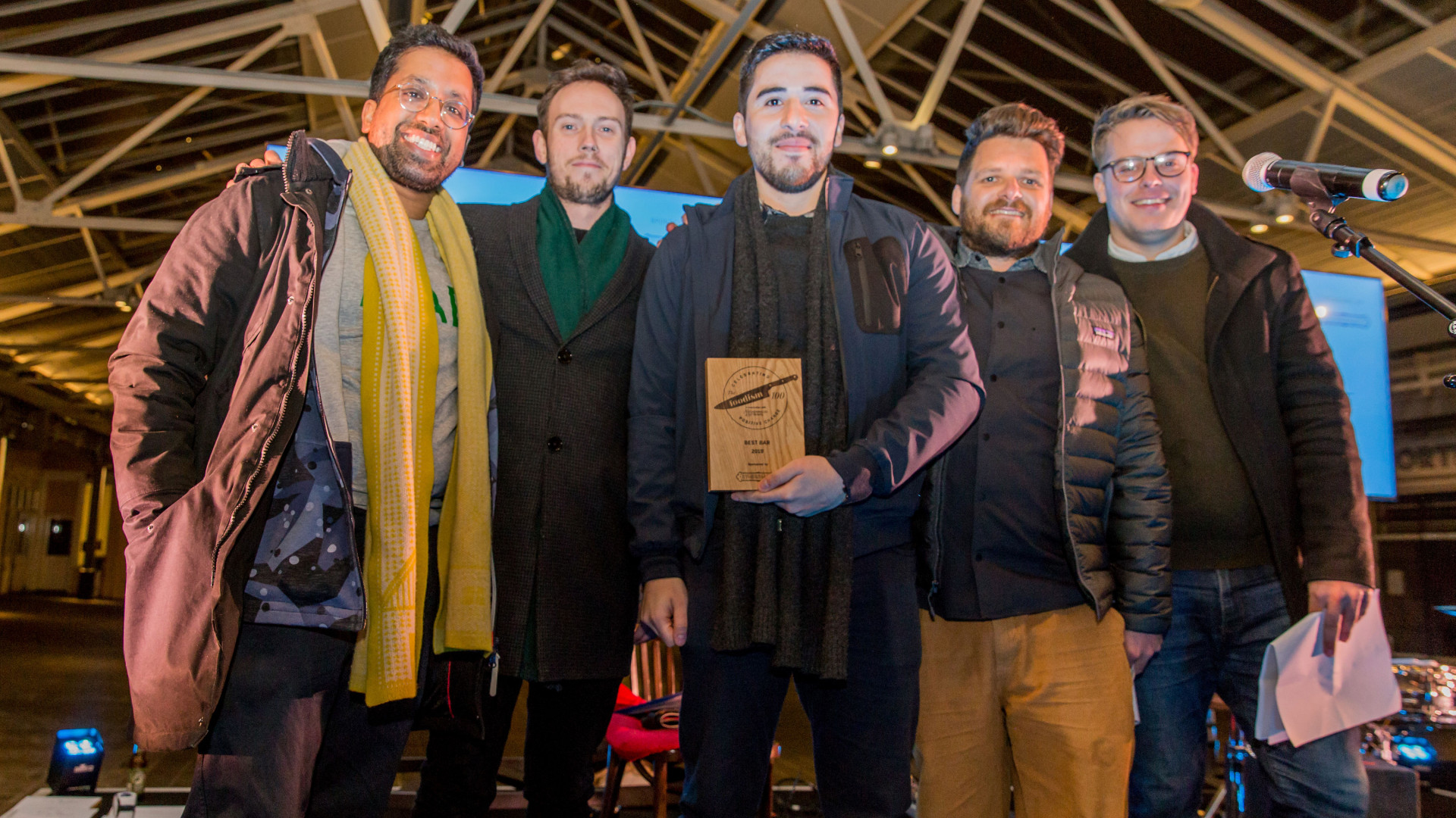 The Foodism 100 awards night 2019: Cub wins Best Bar category