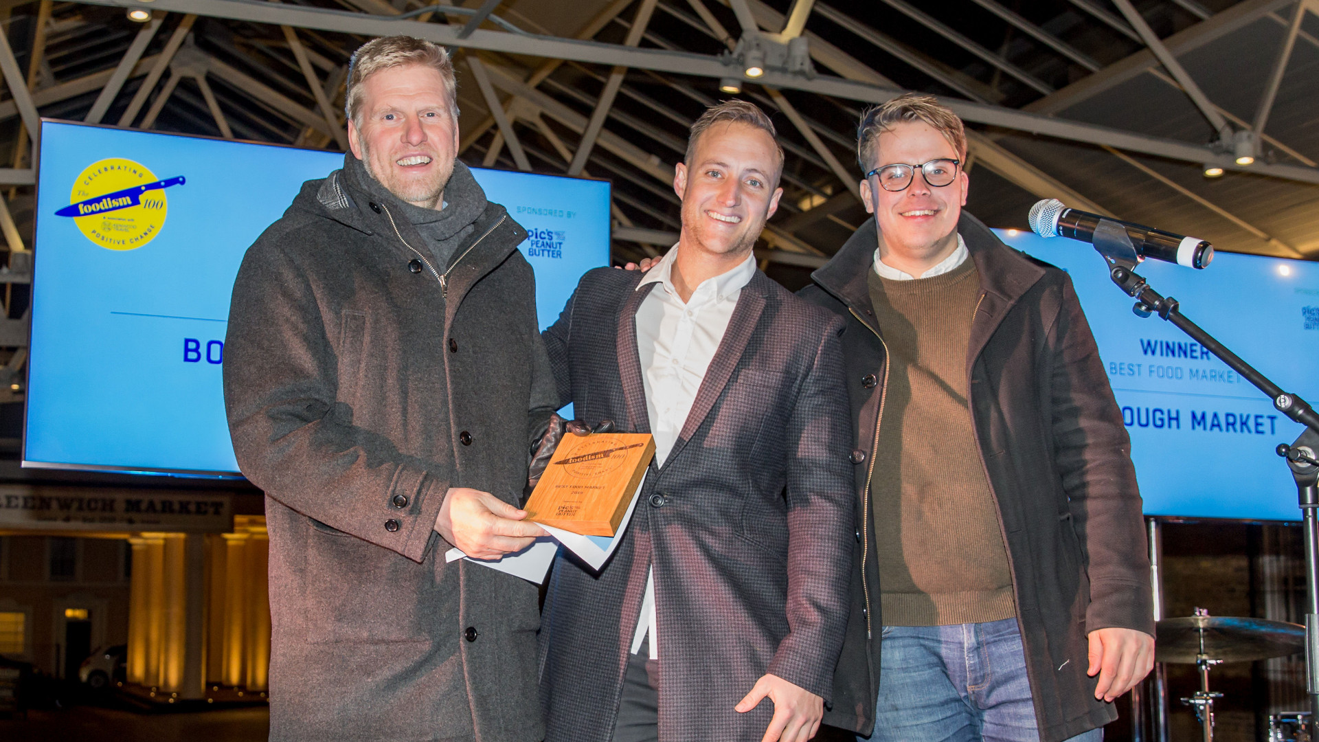 The Foodism 100 awards night 2019: Borough Market wins Best Food Market