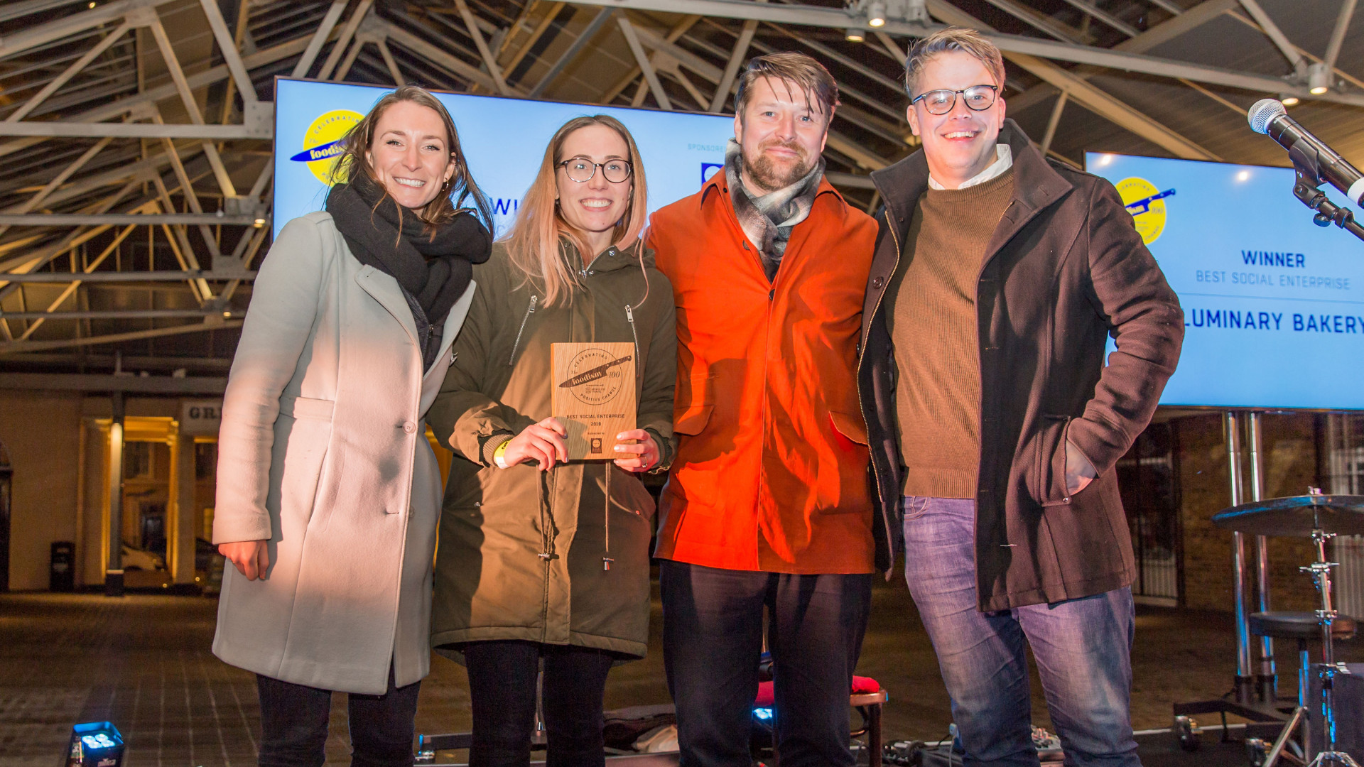 The Foodism 100 awards night 2019: Luminary Bakery wins Best Social Enterprise