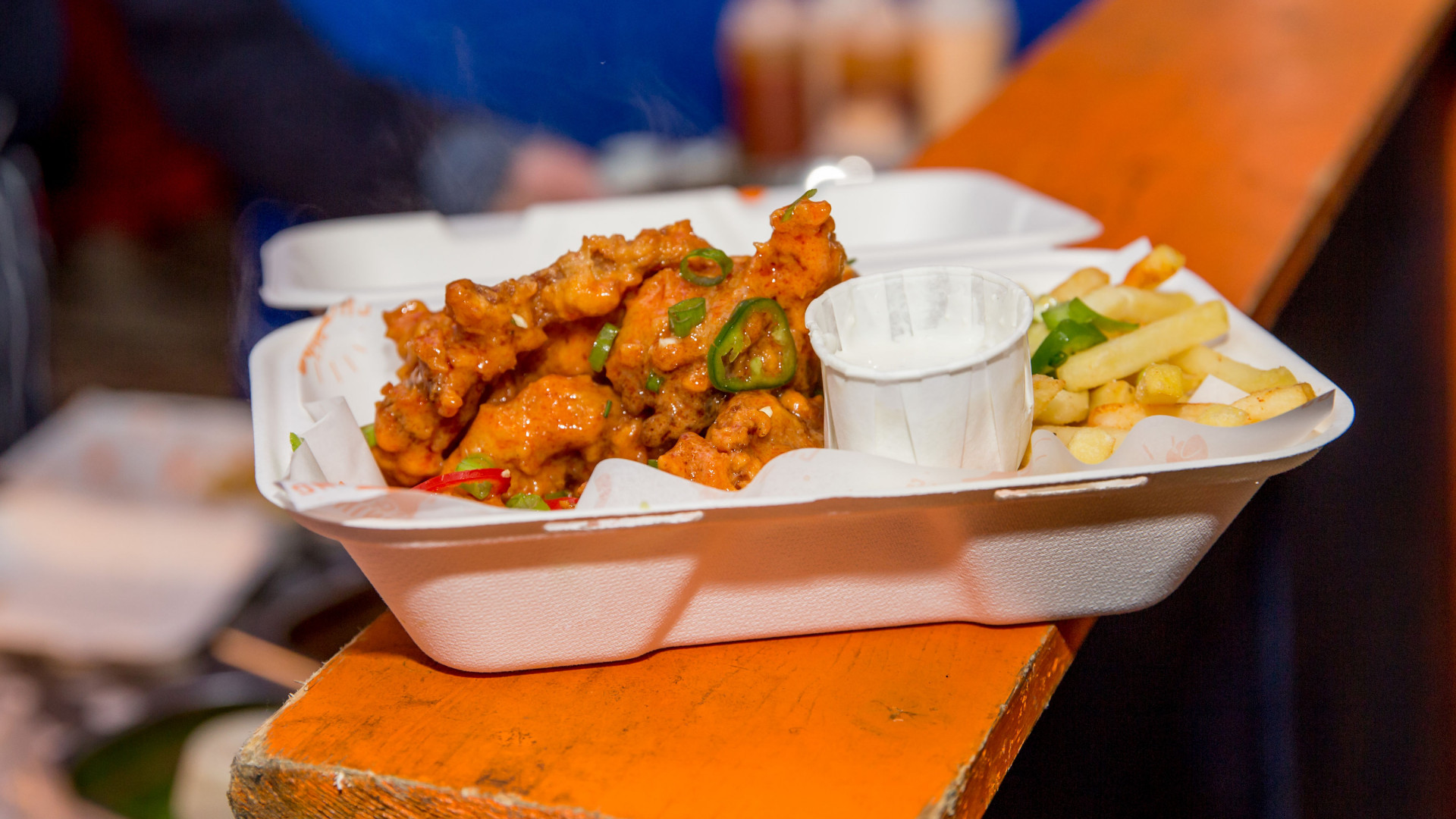 The Foodism 100 awards night 2019: Wings in buffalo sauce from Chuckling Wings