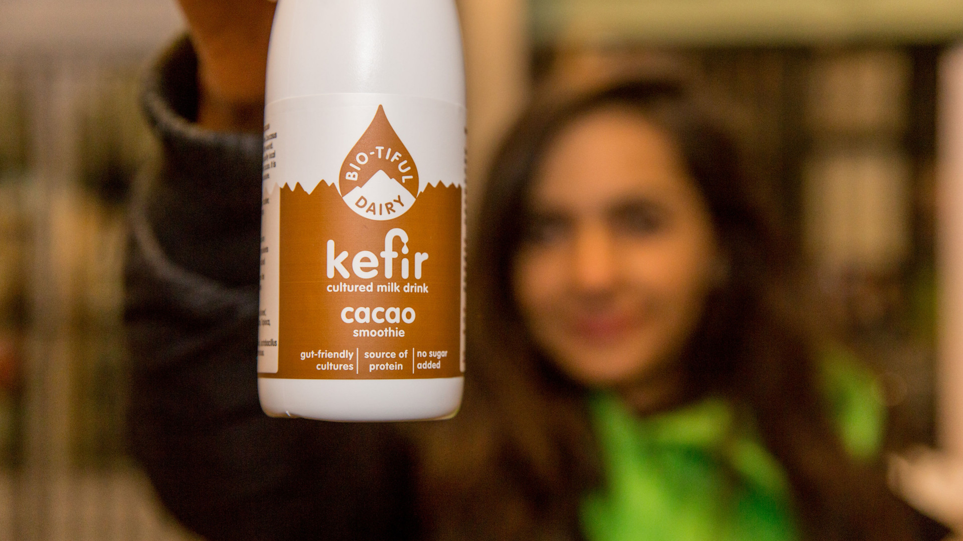 The Foodism 100 awards night 2019: Samples of kefir were handed out by Bio-tiful Dairy