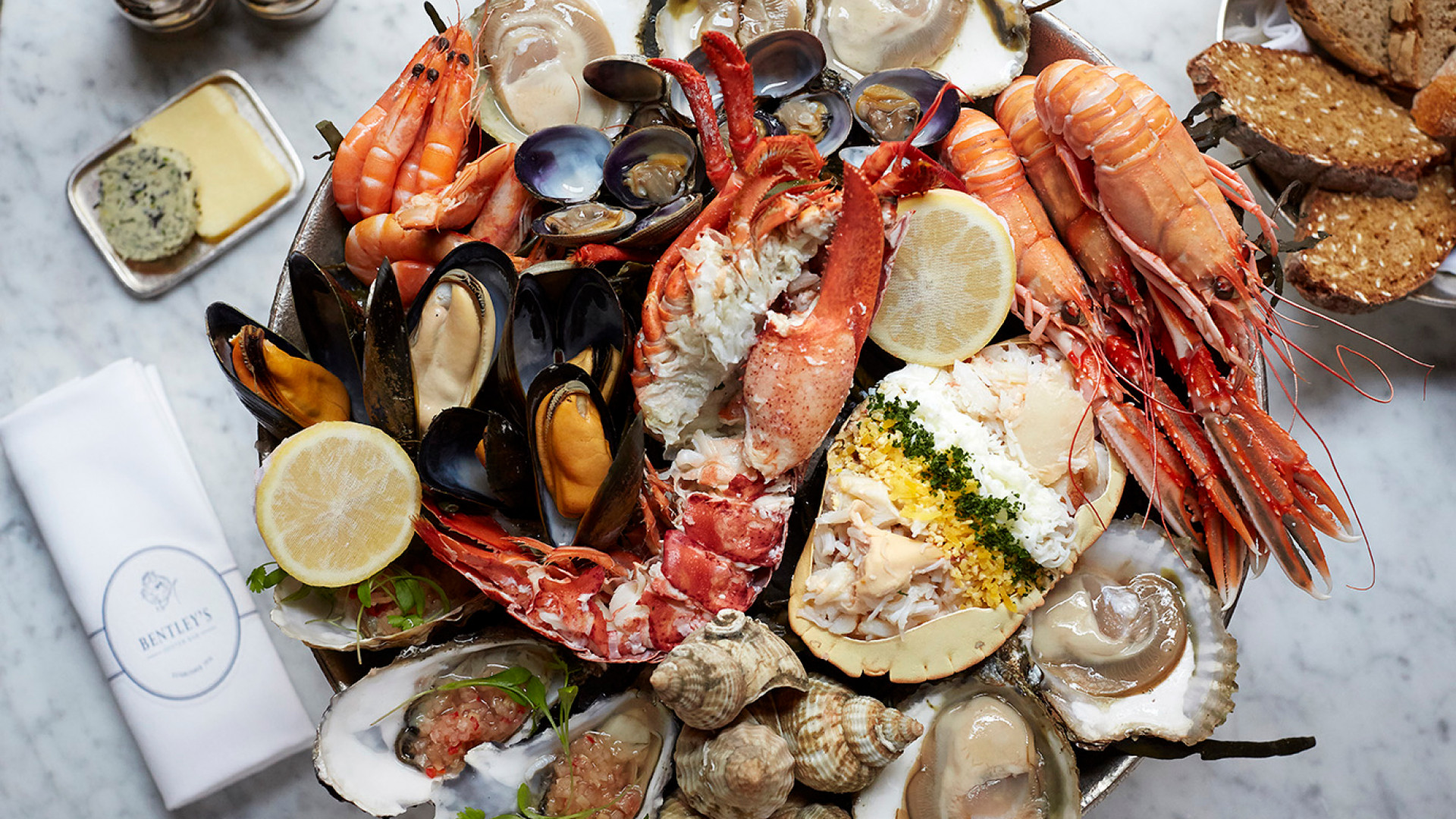 Bentley's royal seafood platter