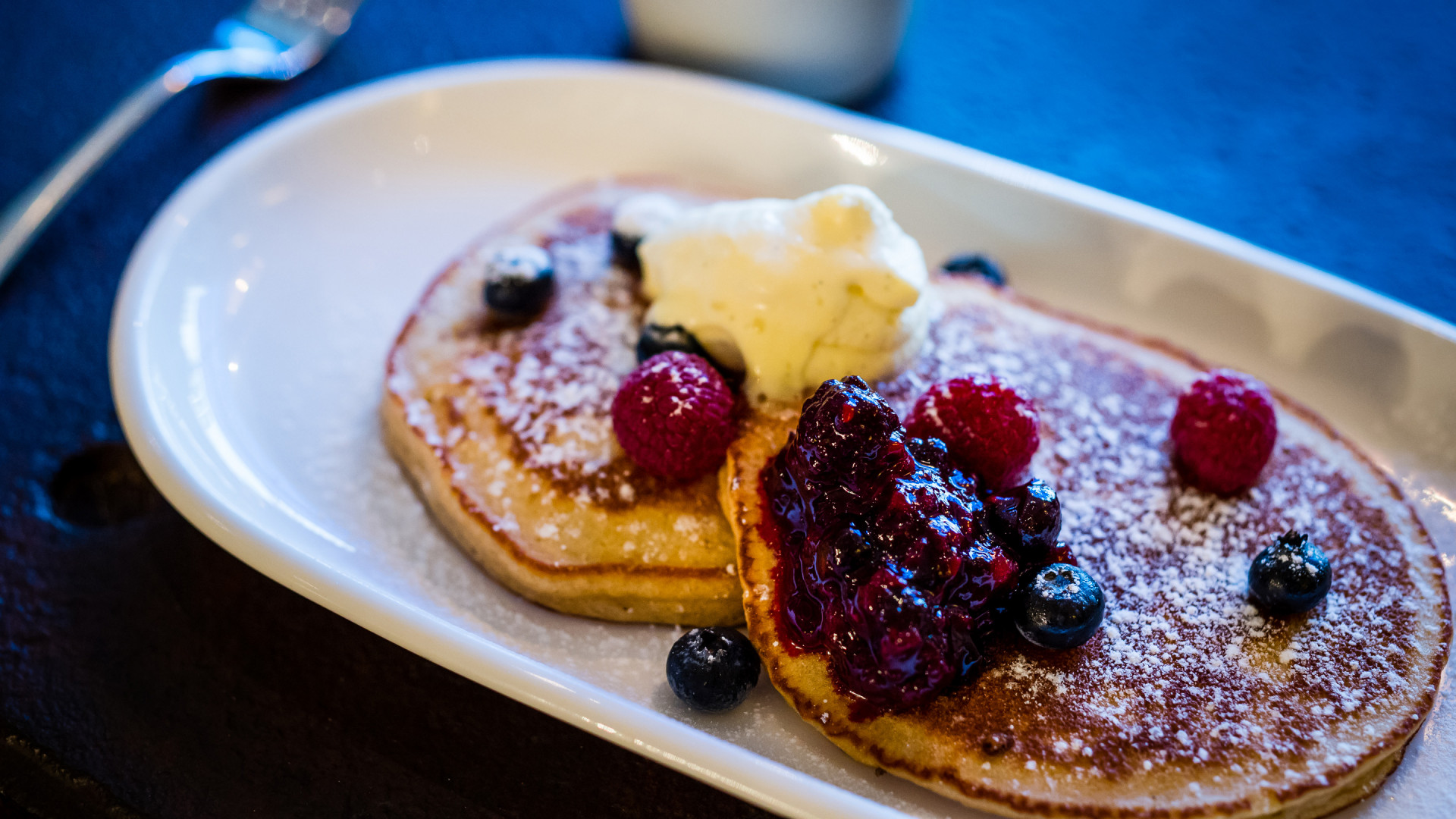 Pancakes at Riding House Cafe