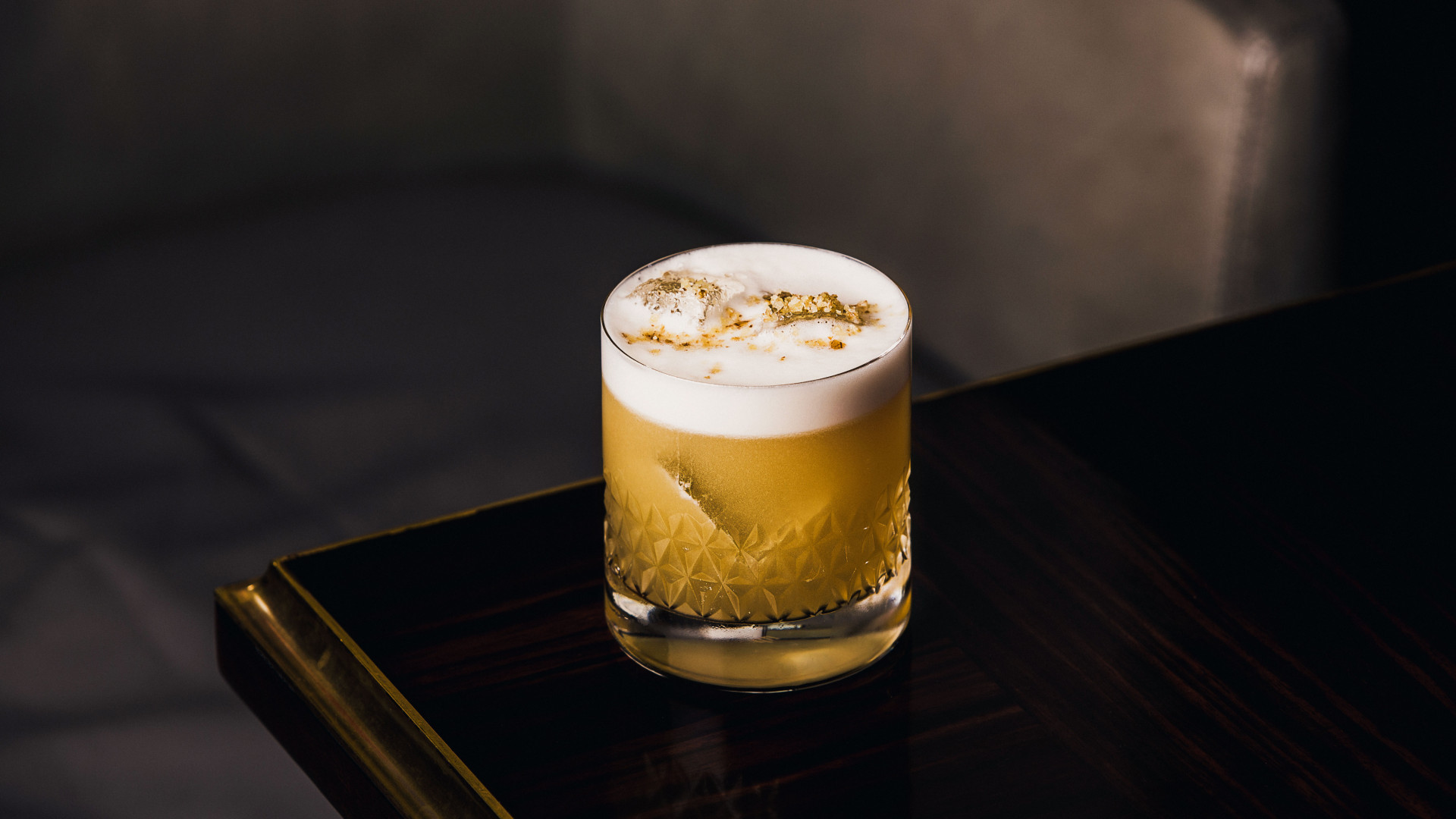 Cedar Oak cocktail from the Bassoon Bar at the Corinthia Hotel London
