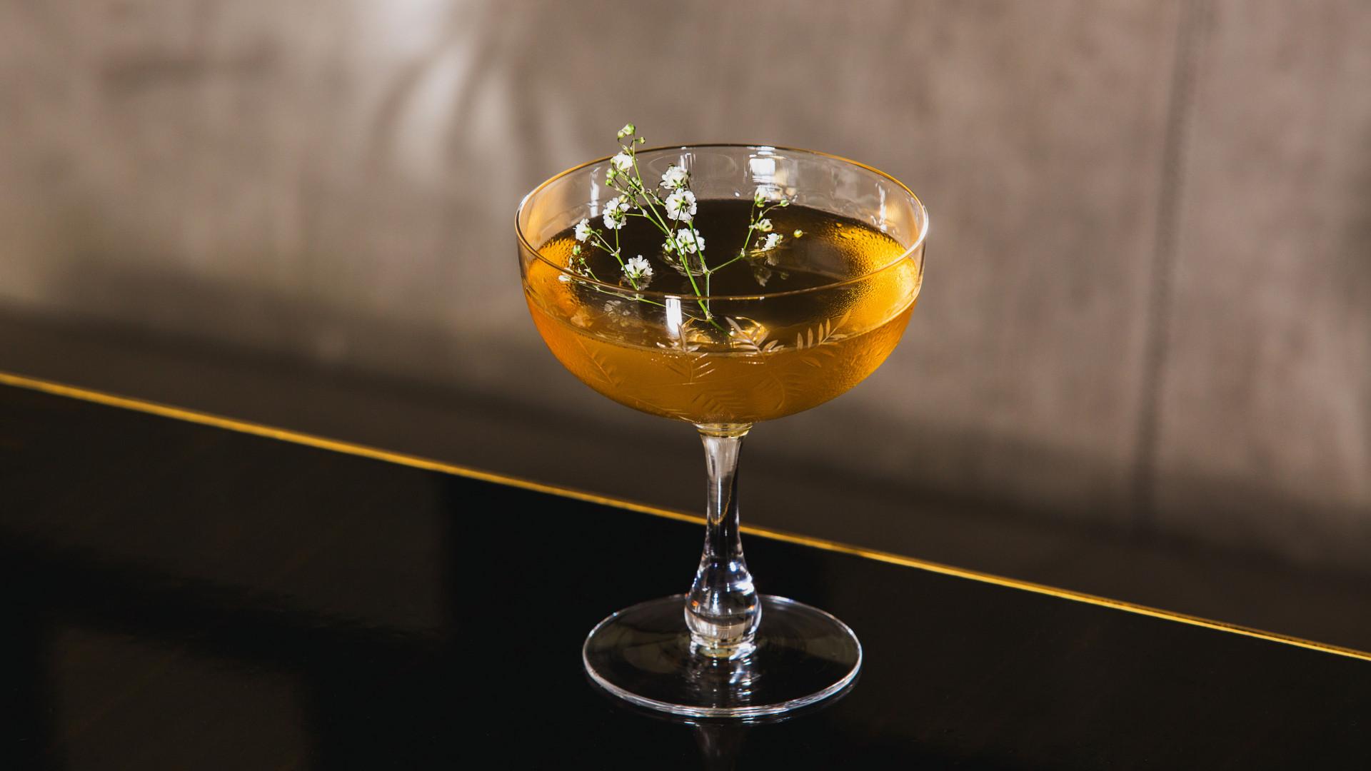 Meadowsweet Martini from the Bassoon Bar at the Corinthia Hotel London