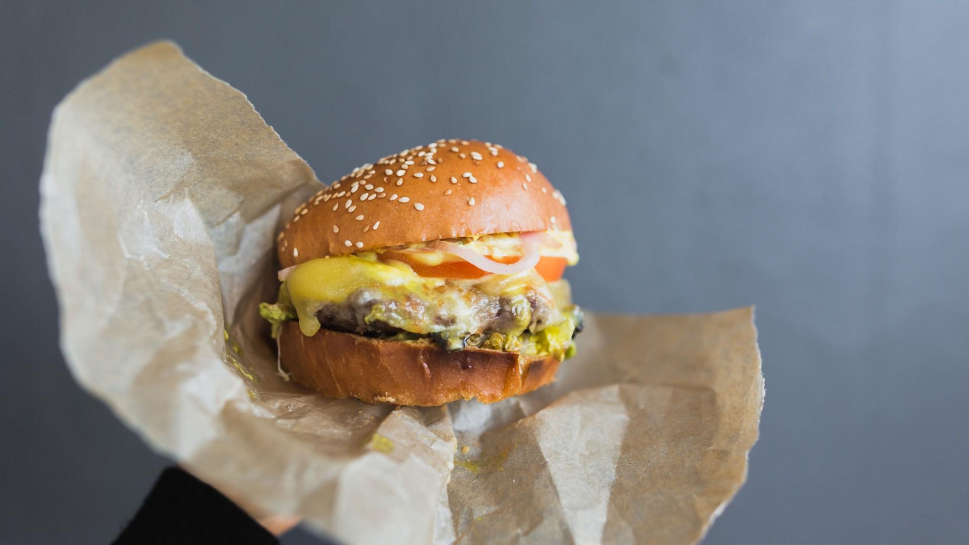 Blue Anchor burger