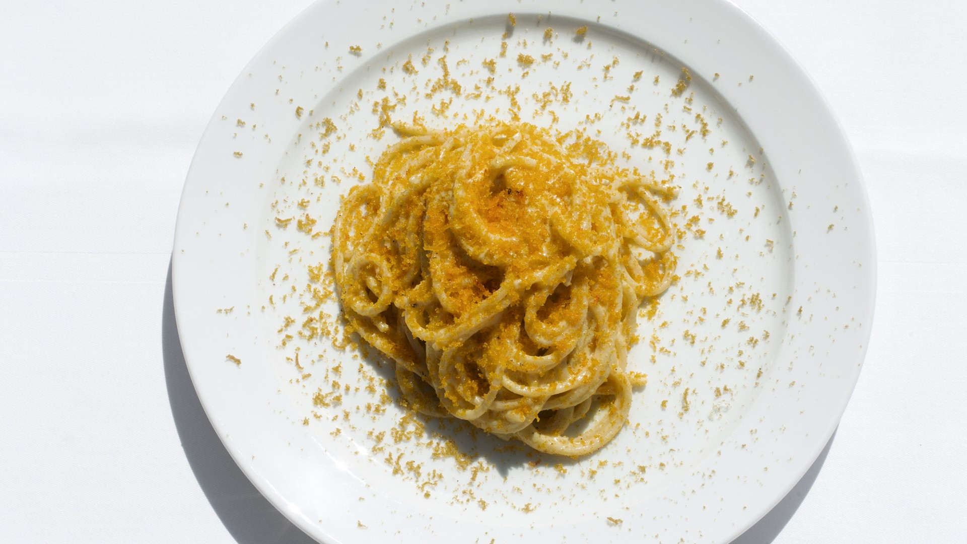 Spaghetti bottarga at The River Café