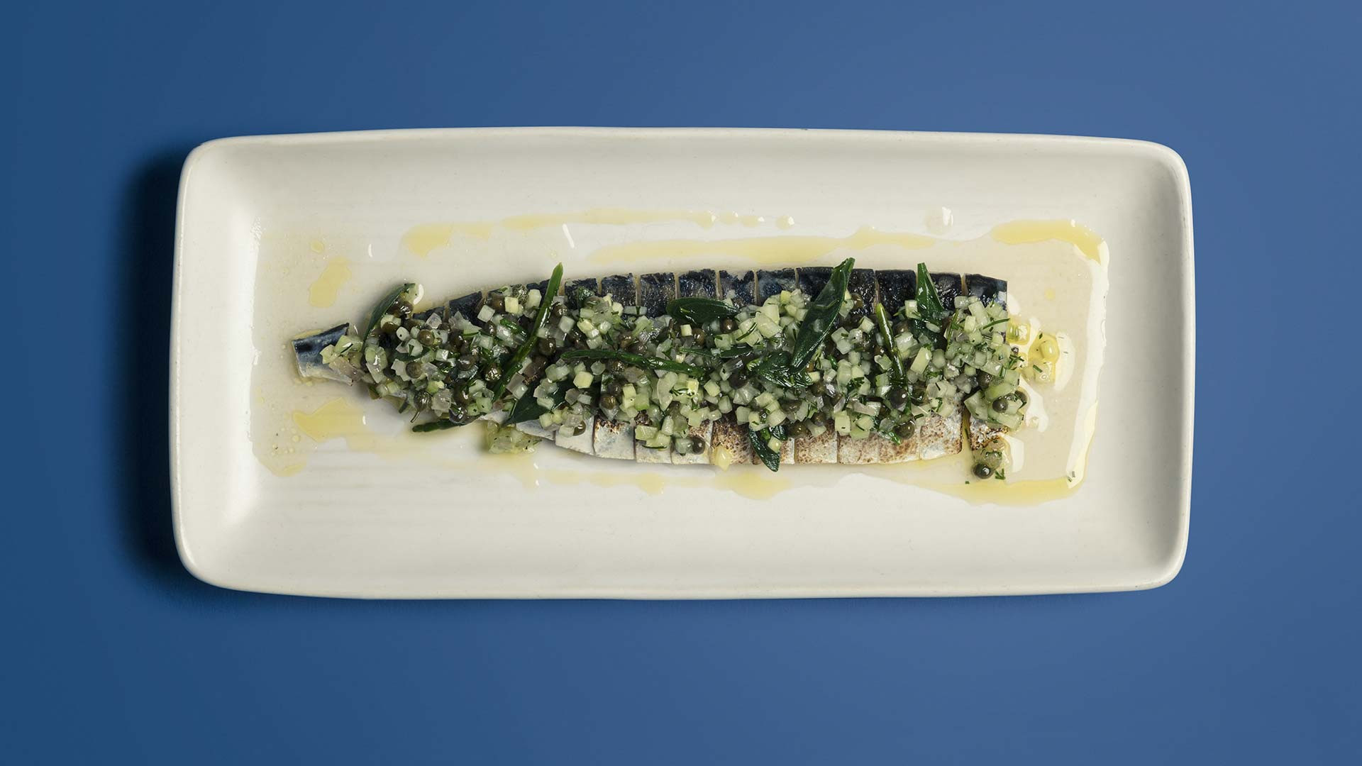 Flamed mackerel from The Ninth
