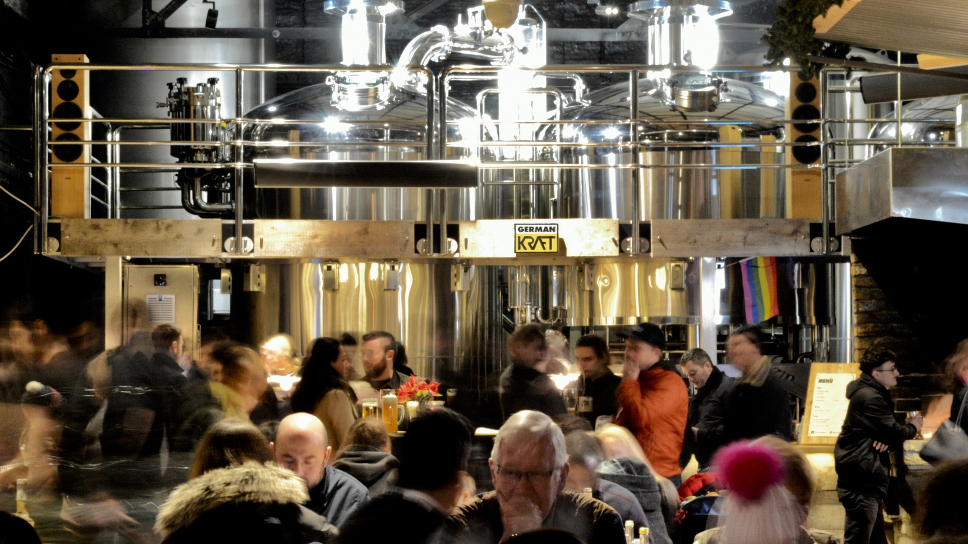 Drinking at German Kraft brewery
