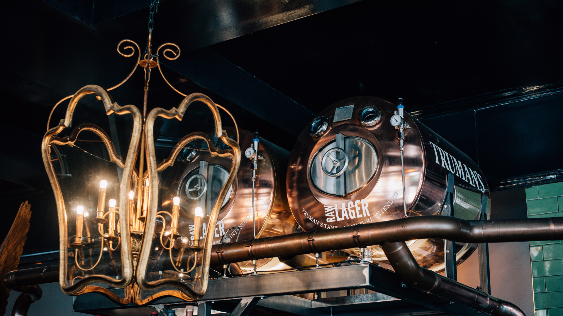 RAW lager tanks at The Eagle, Ladbroke Grove