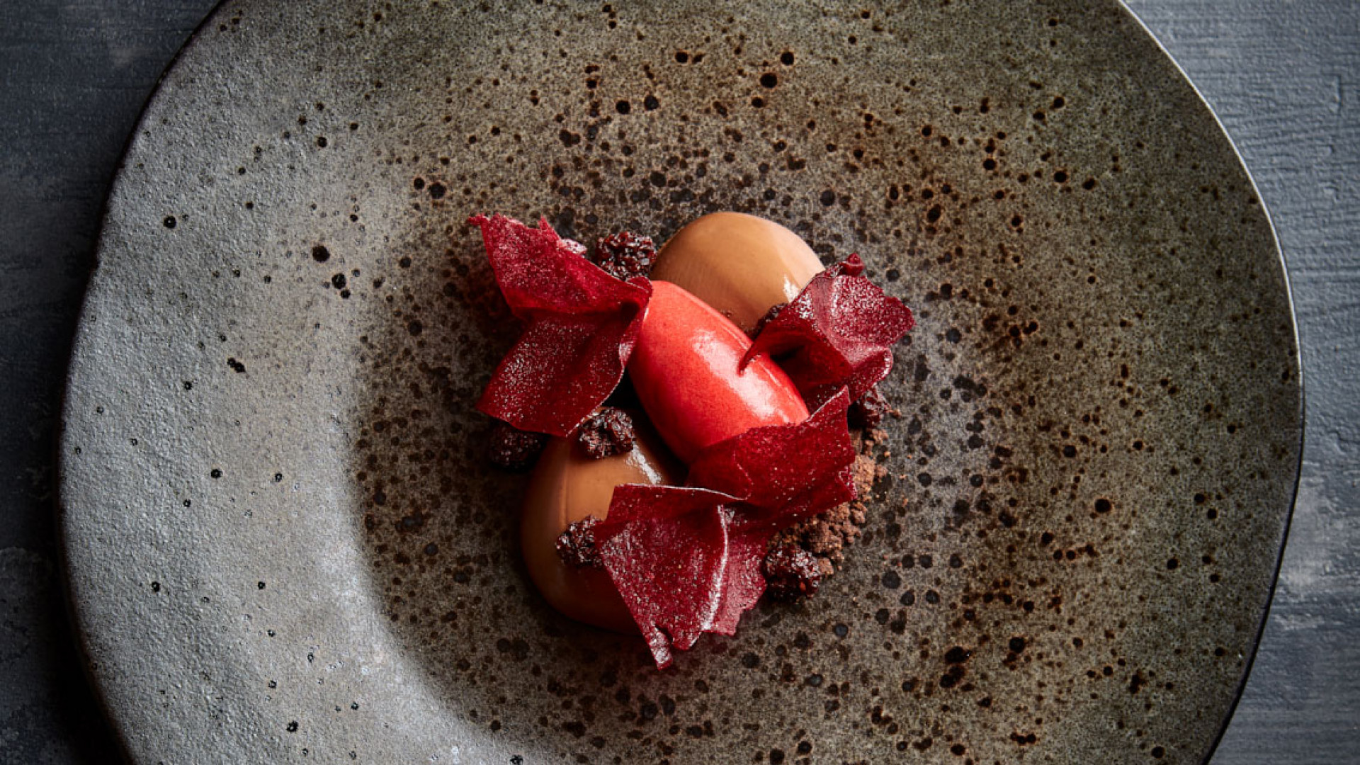Beetroot, chocolate and blackberry