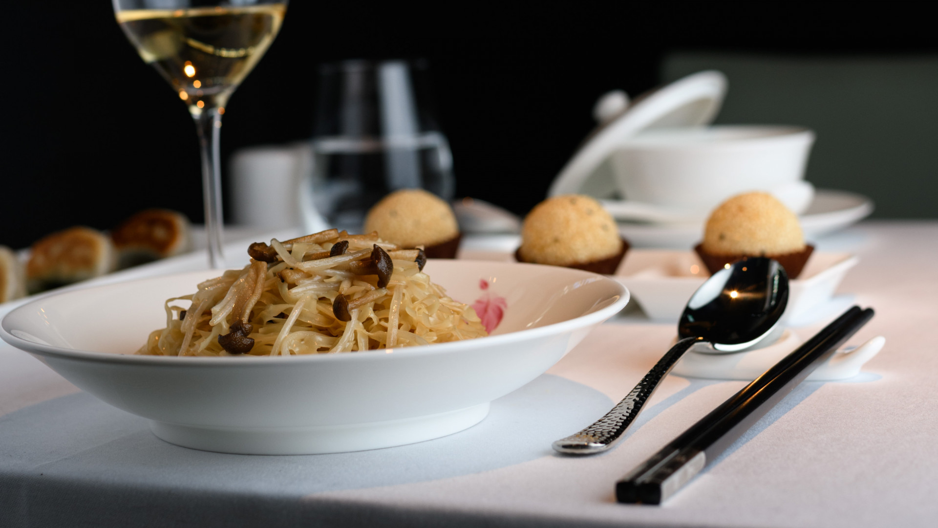 Braised noodles with Matsutake mushroom and truffle oil