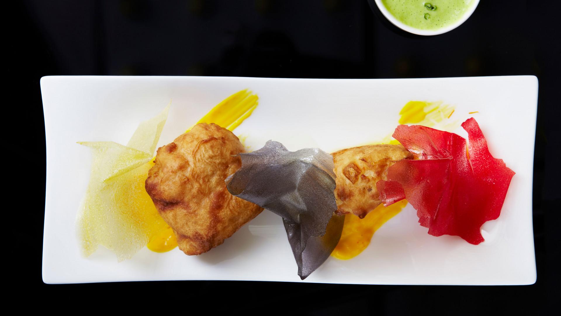 Fish and chips at Ametsa