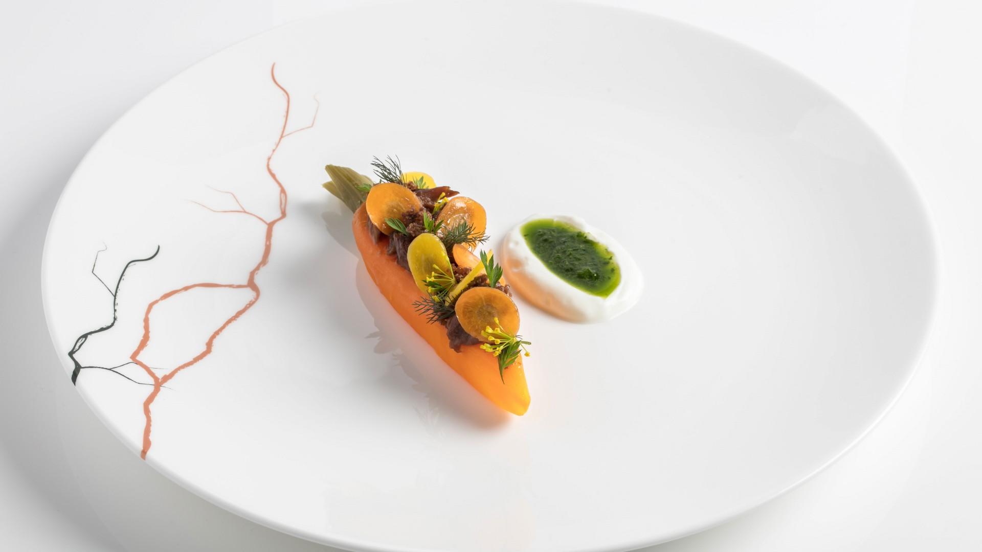 Lamb braised carrot with sheep's milk yoghurt
