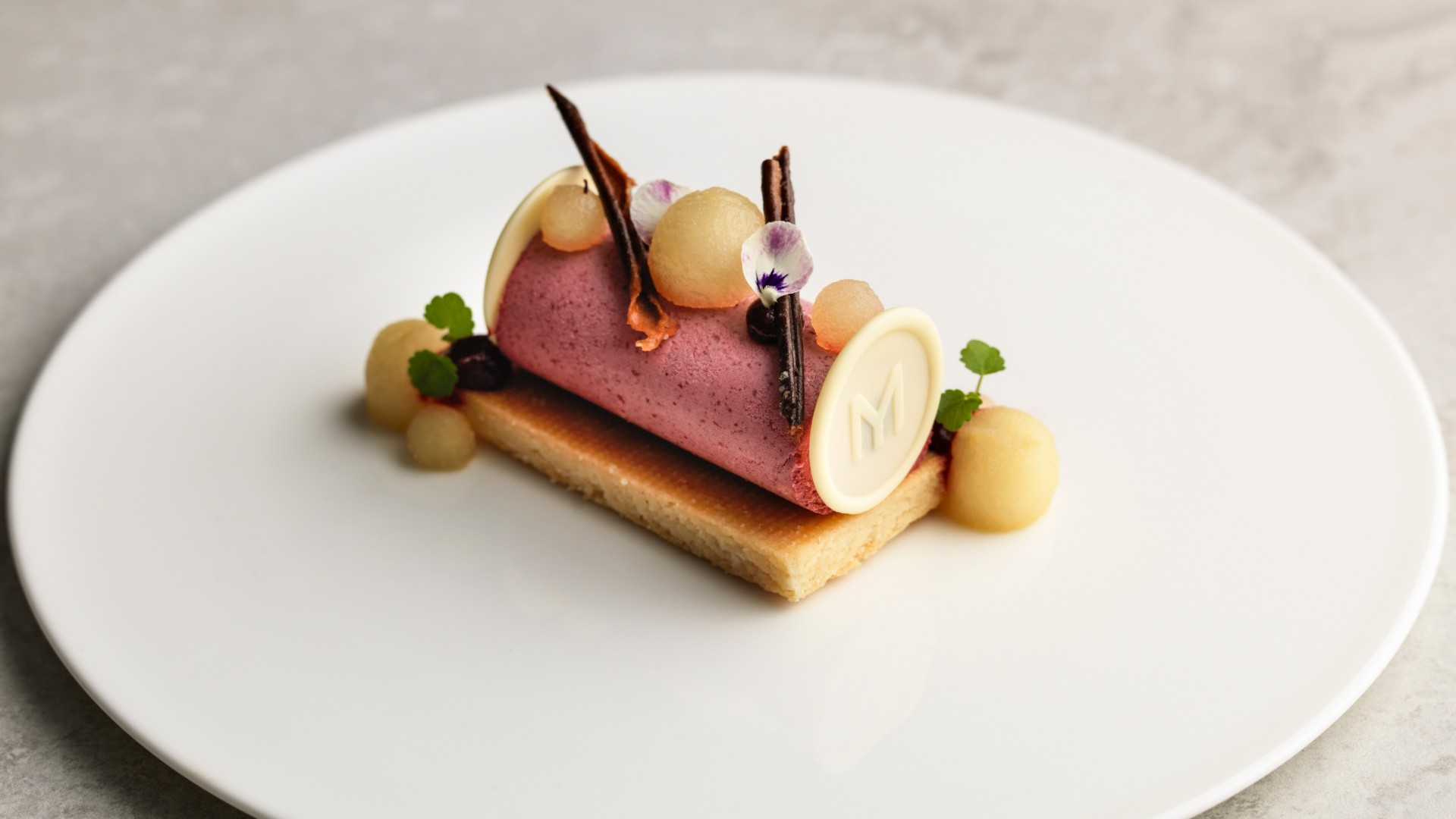 Blackcurrant parfait