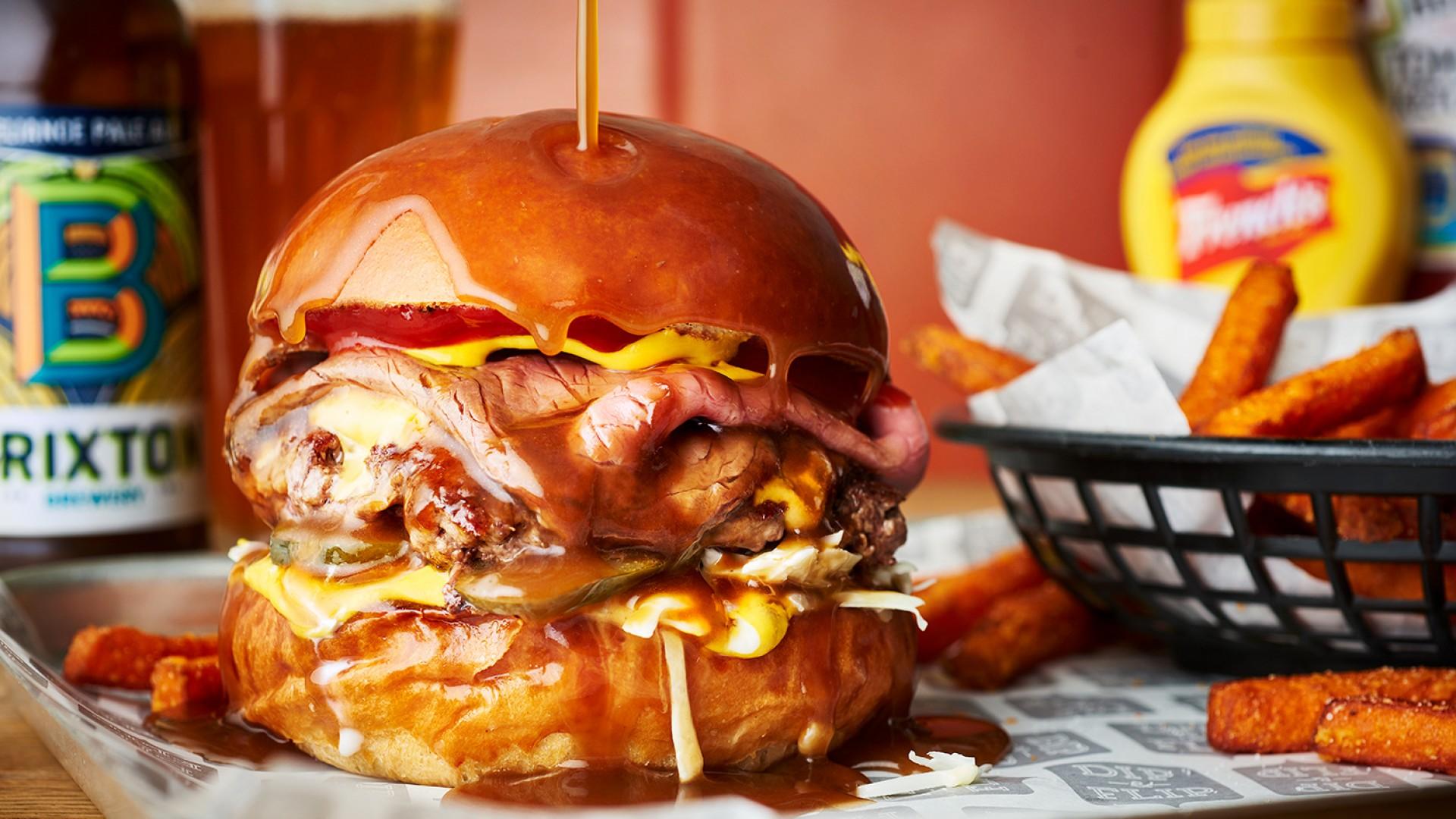 The Dip & Flip Burger at Dip & Flip