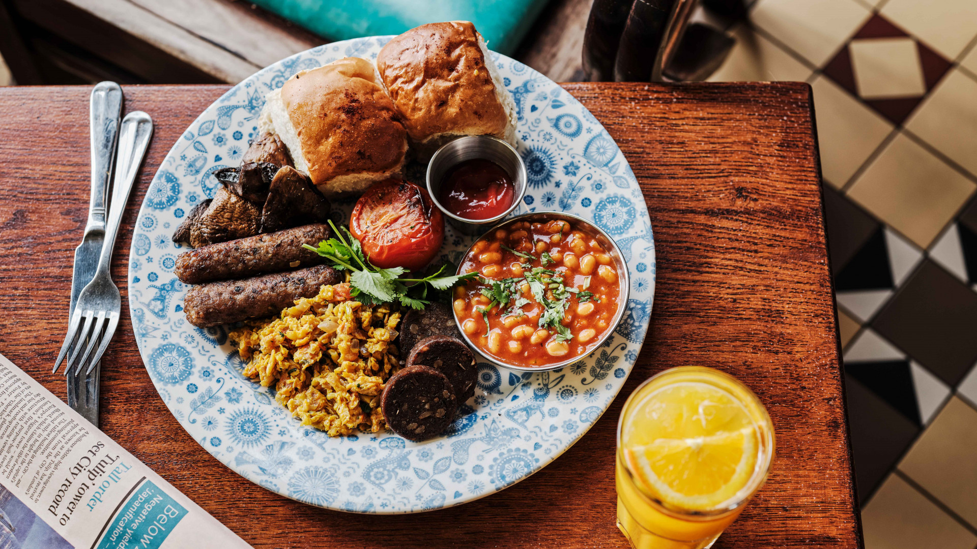 Vegan bombay breakfast at Dishoom