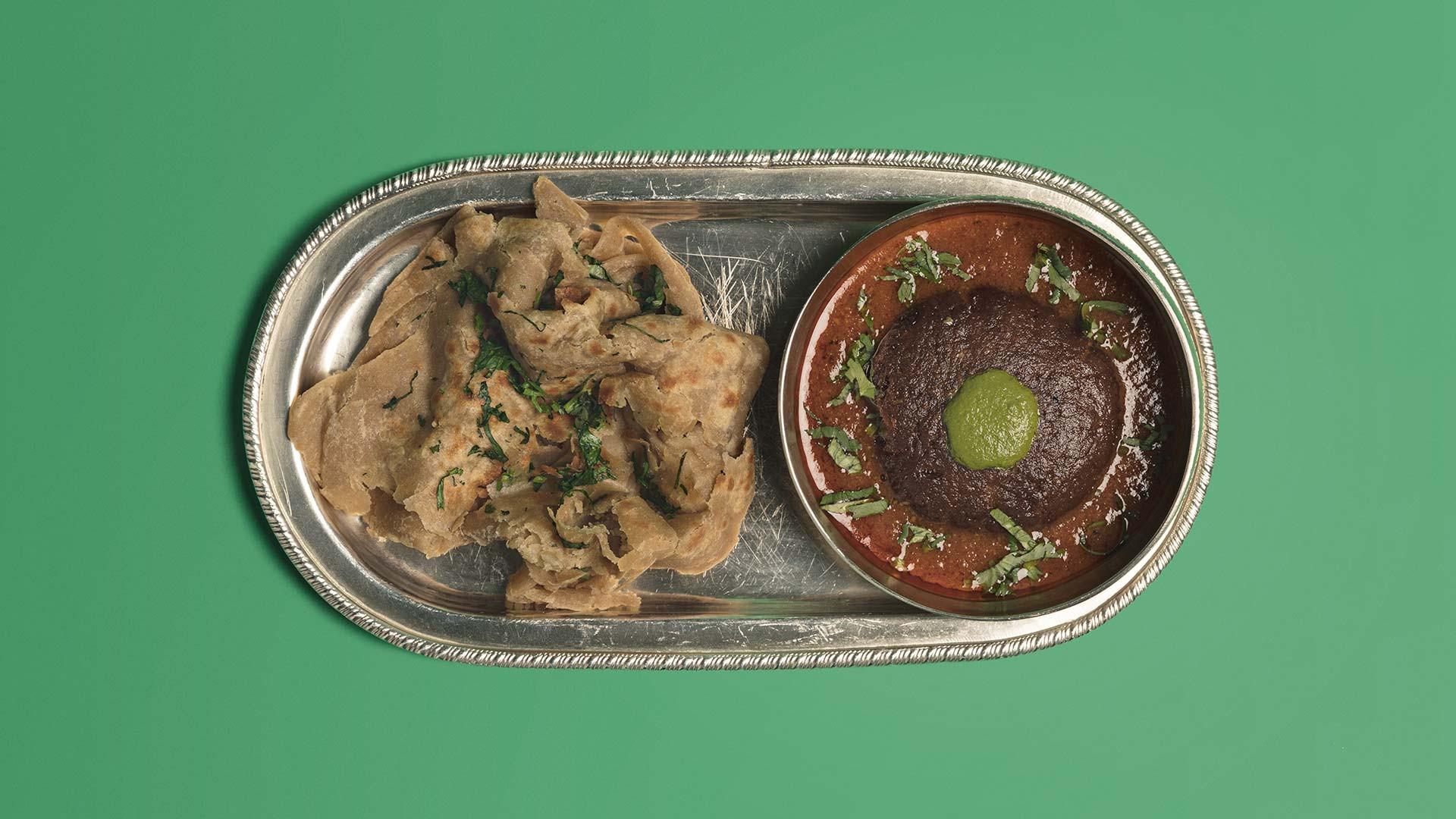 Shami kebab with chur chur paratha from Jamavar