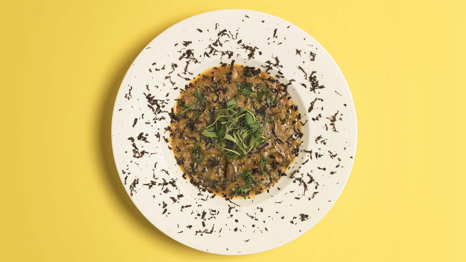 Truffle mushroom khichuri from Kutir