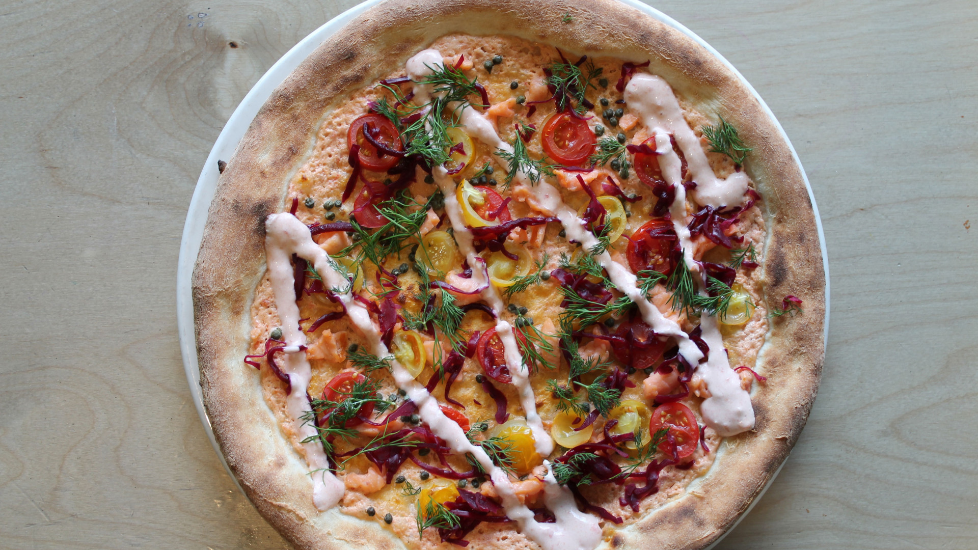 Moxon's Four Hundred Rabbits pizza
