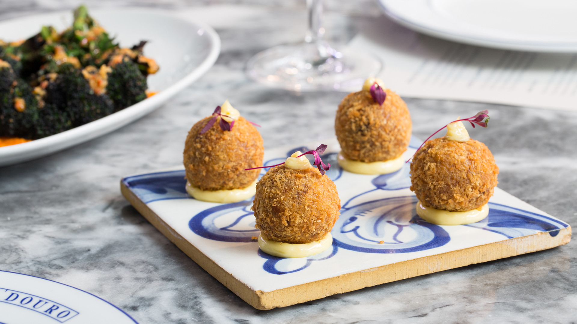 Croquetes de Alheira at Bar Douro