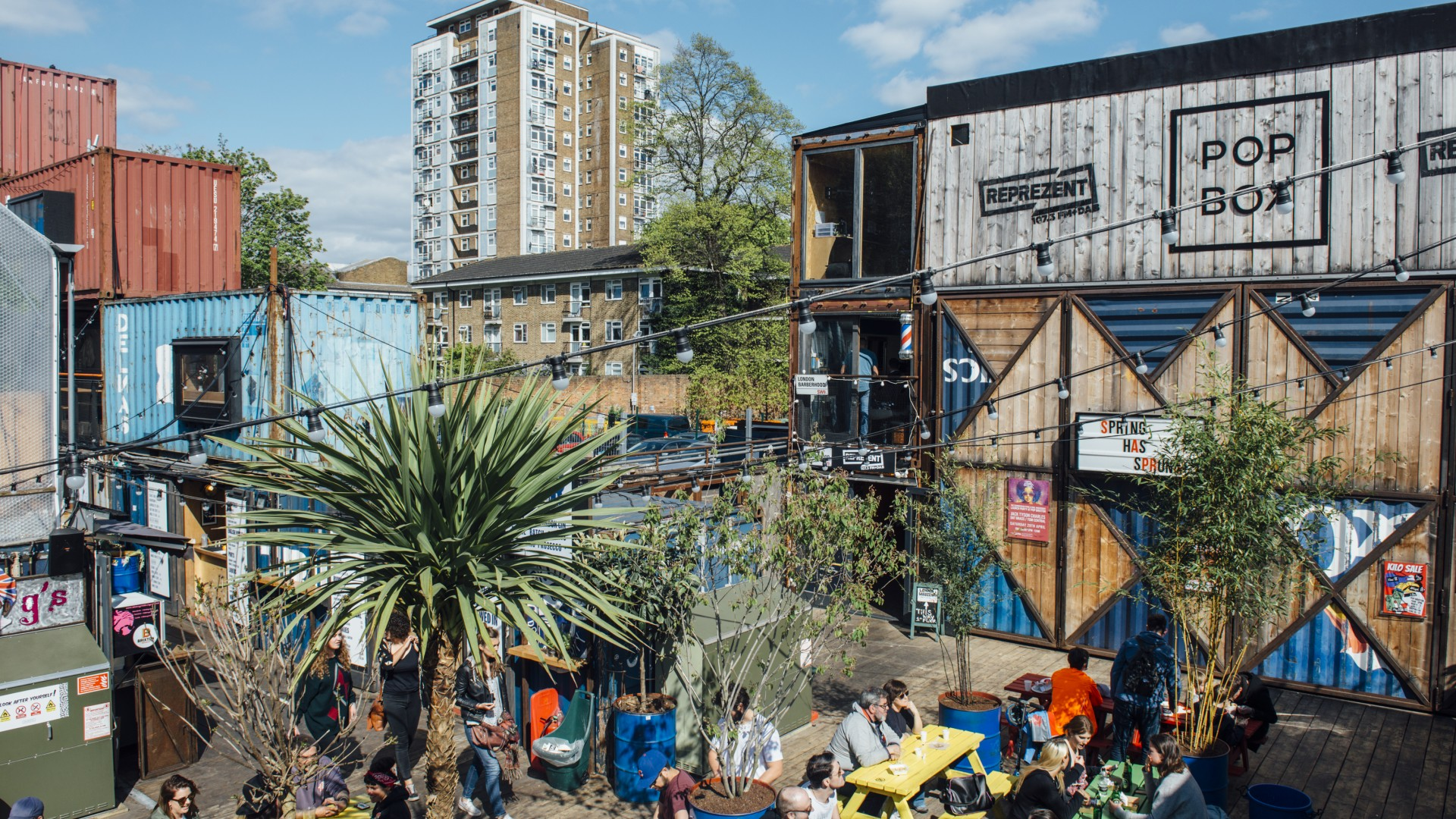 Best food markets in London - Pop Brixton