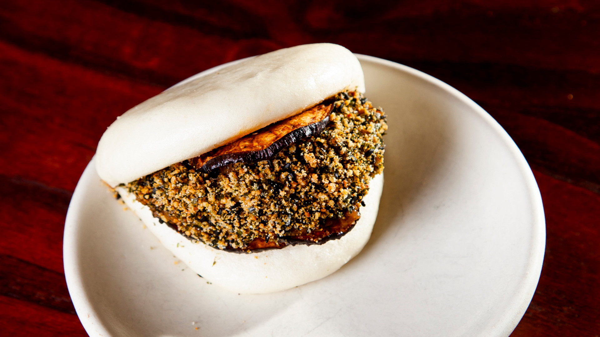 Aubergine bao at BAO Borough