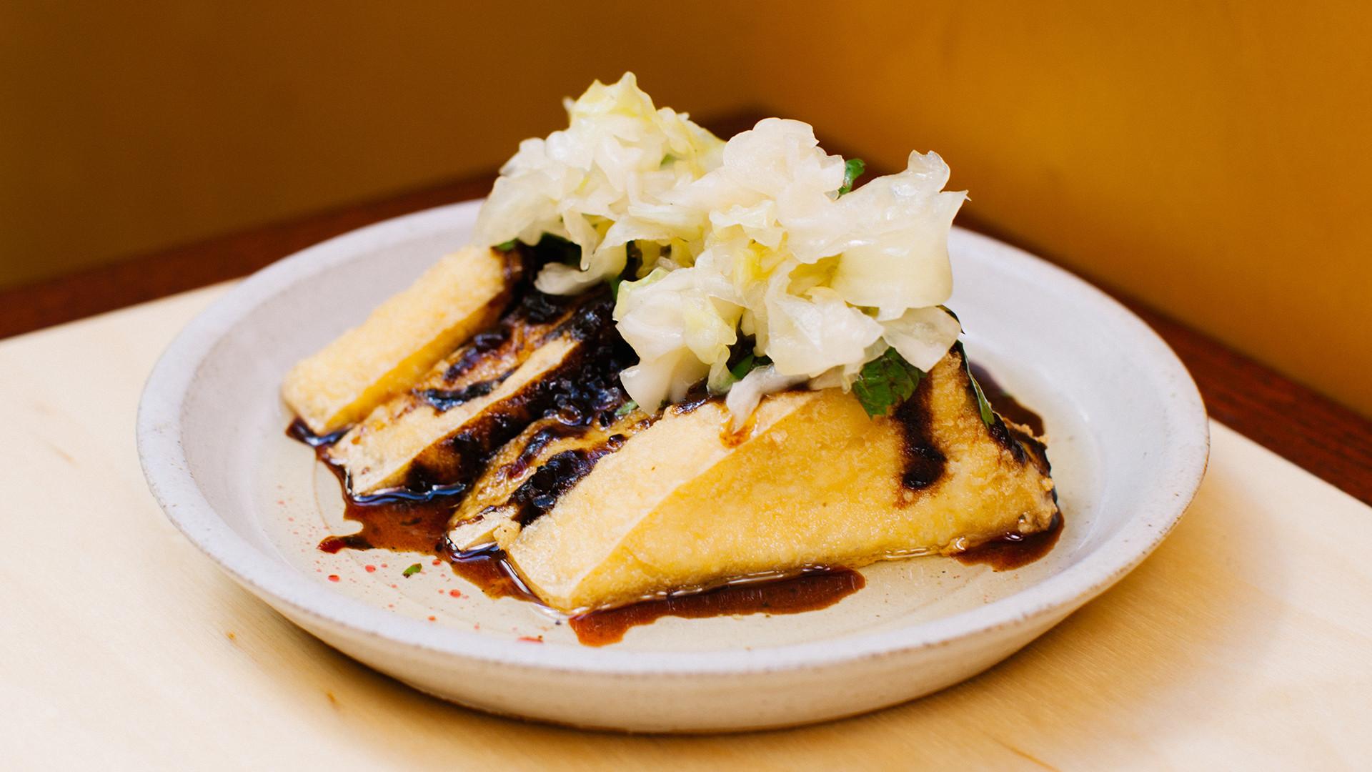 Glazed Tofu & Taiwanese Pickle at BAO Borough