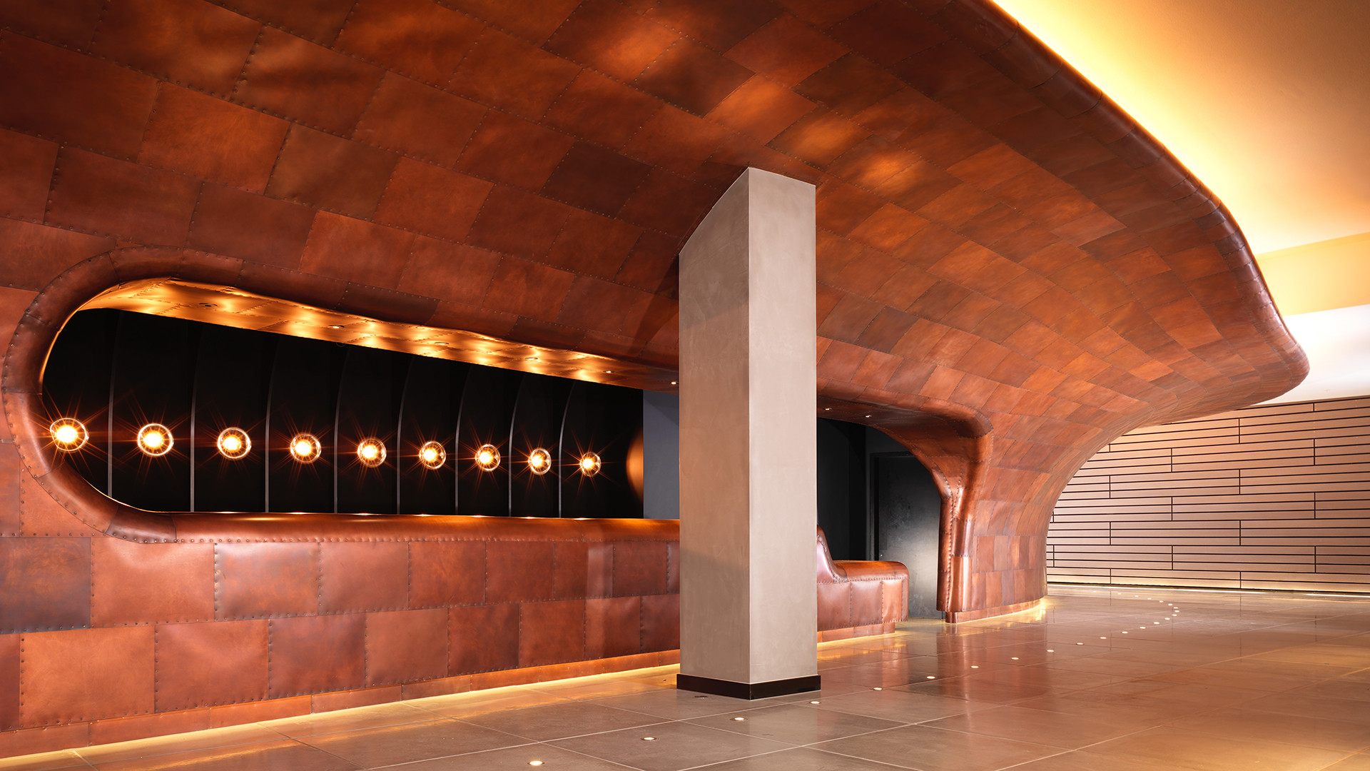 Copper hull at Sea Containers London