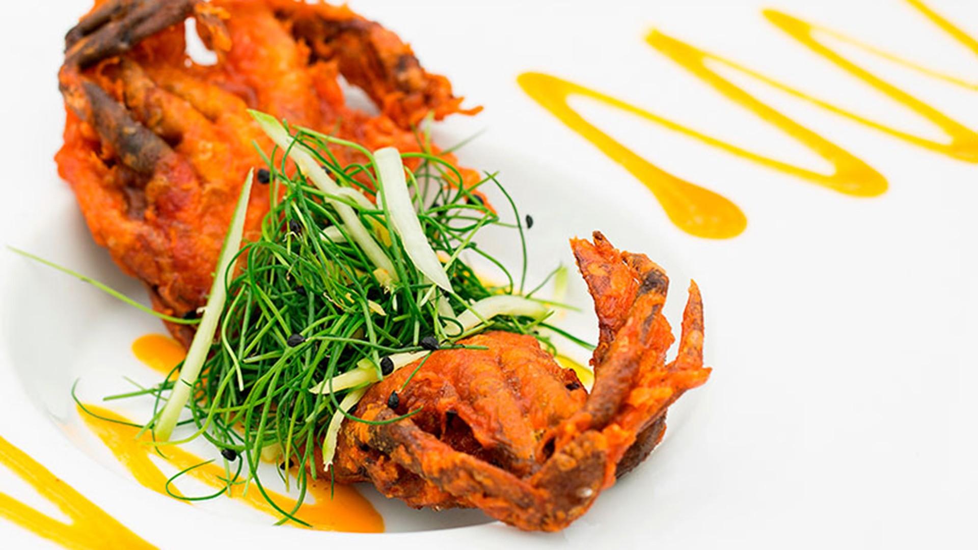 Bombay crab at Bombay Brasserie