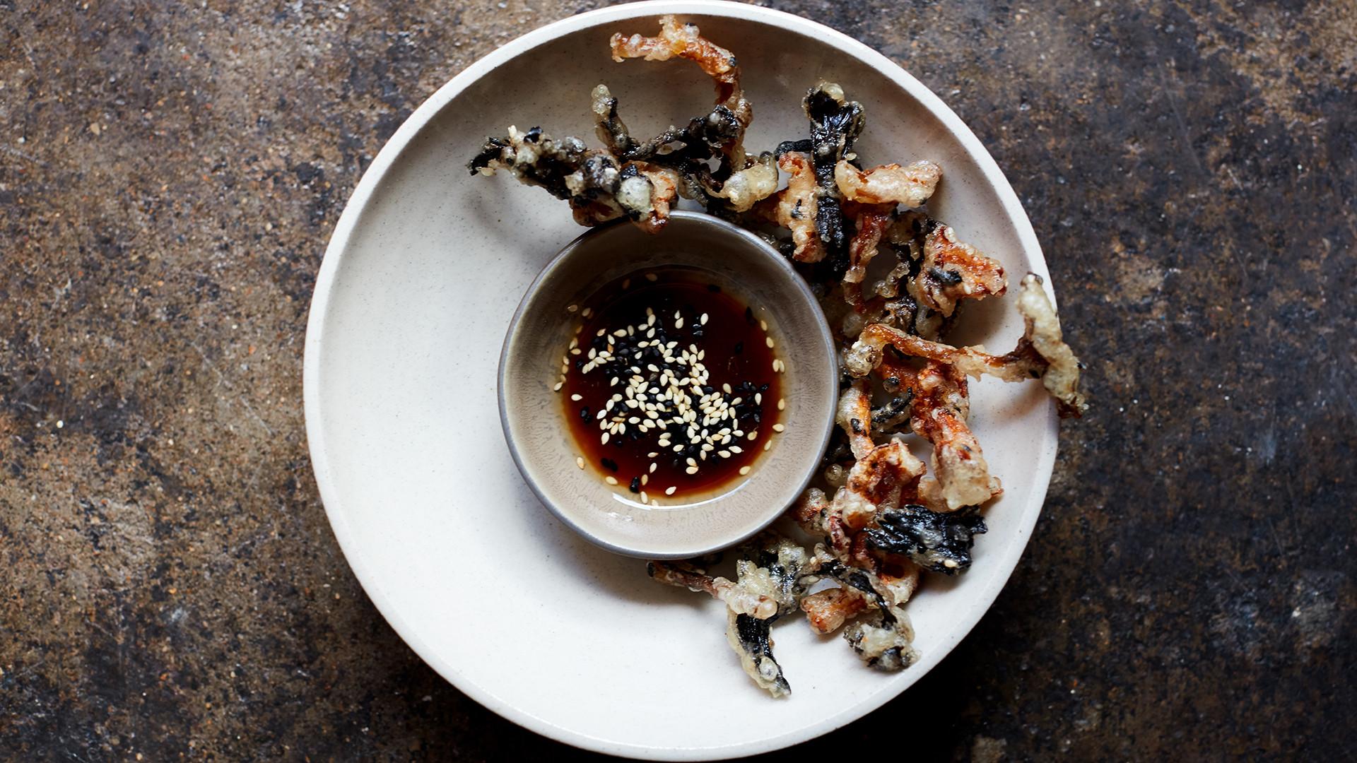 Mushroom tempura at Levan in Peckham