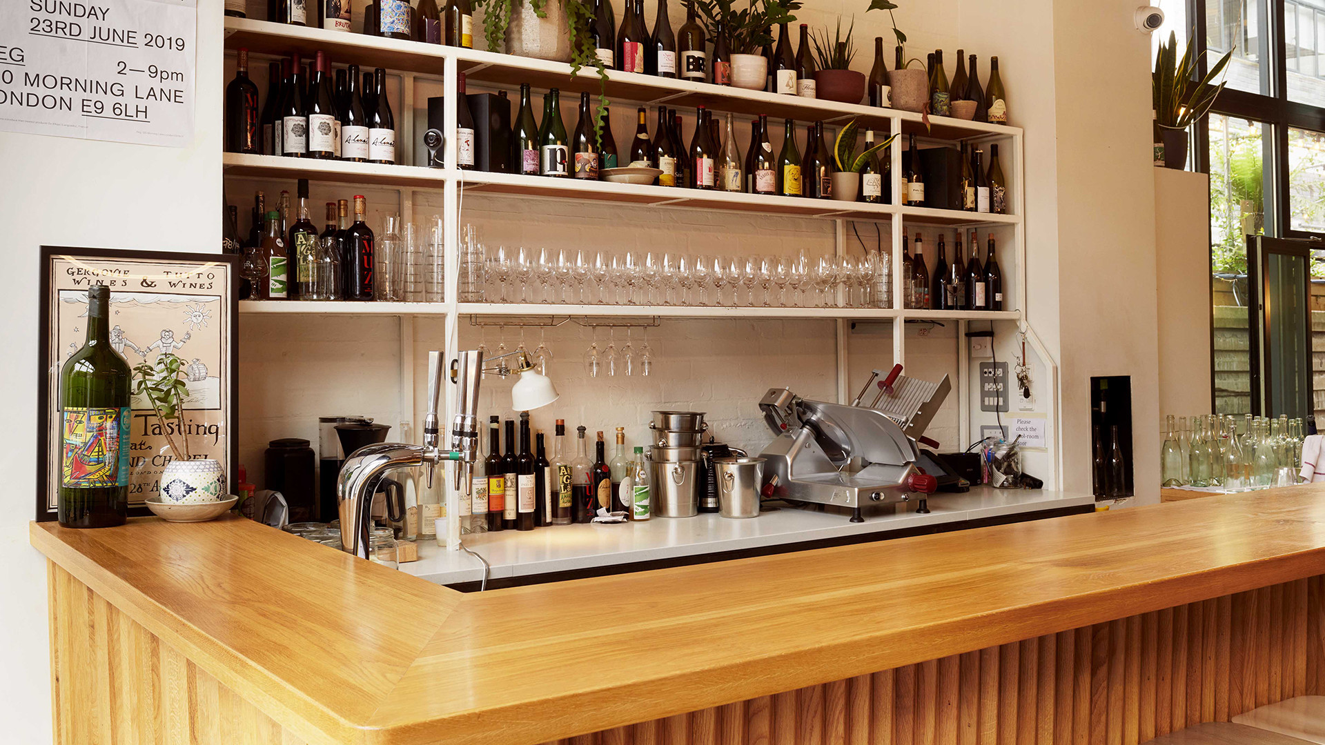 Natural wine bar: Bright