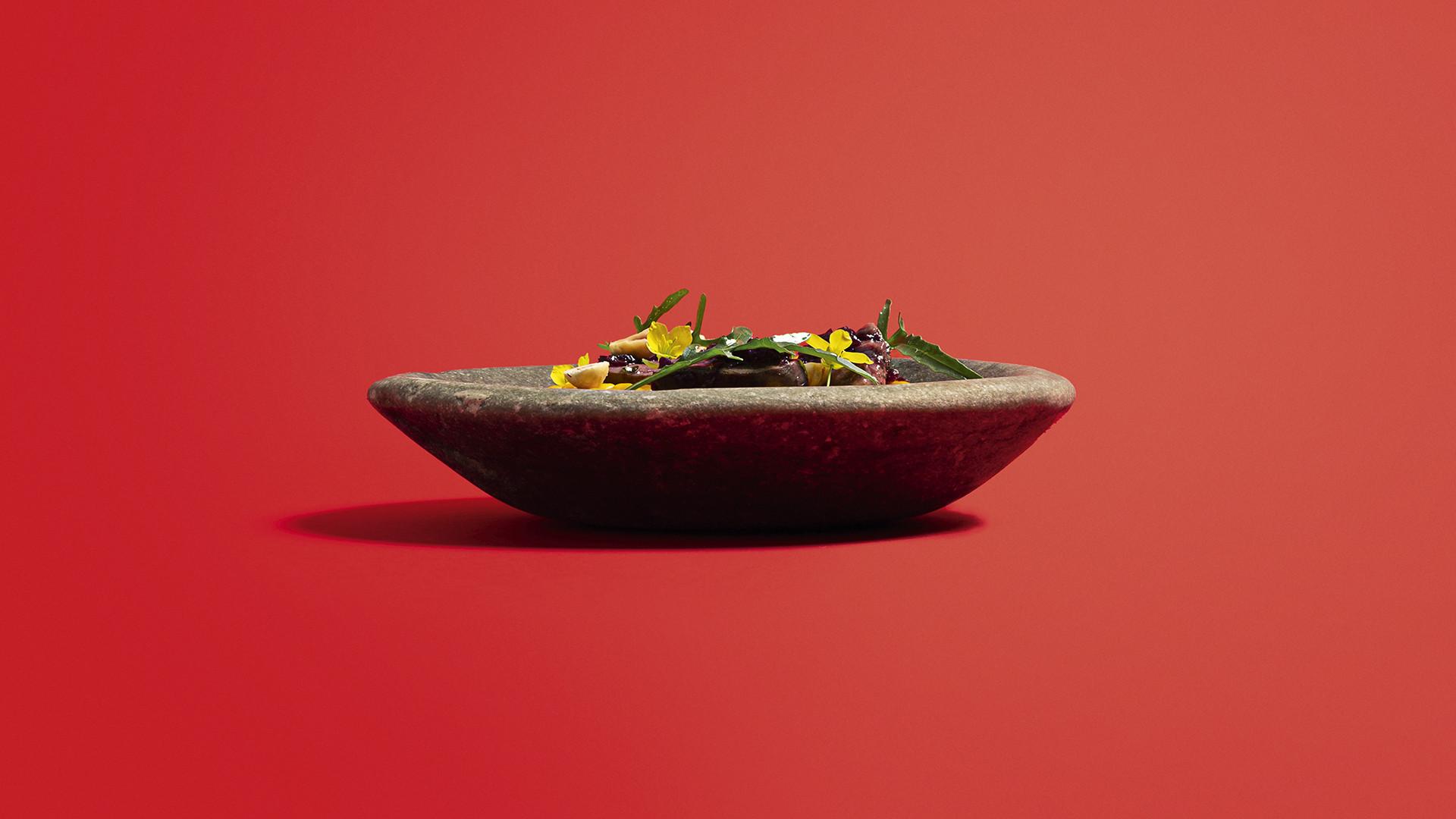 Sweetcorn, polenta, duck hearts