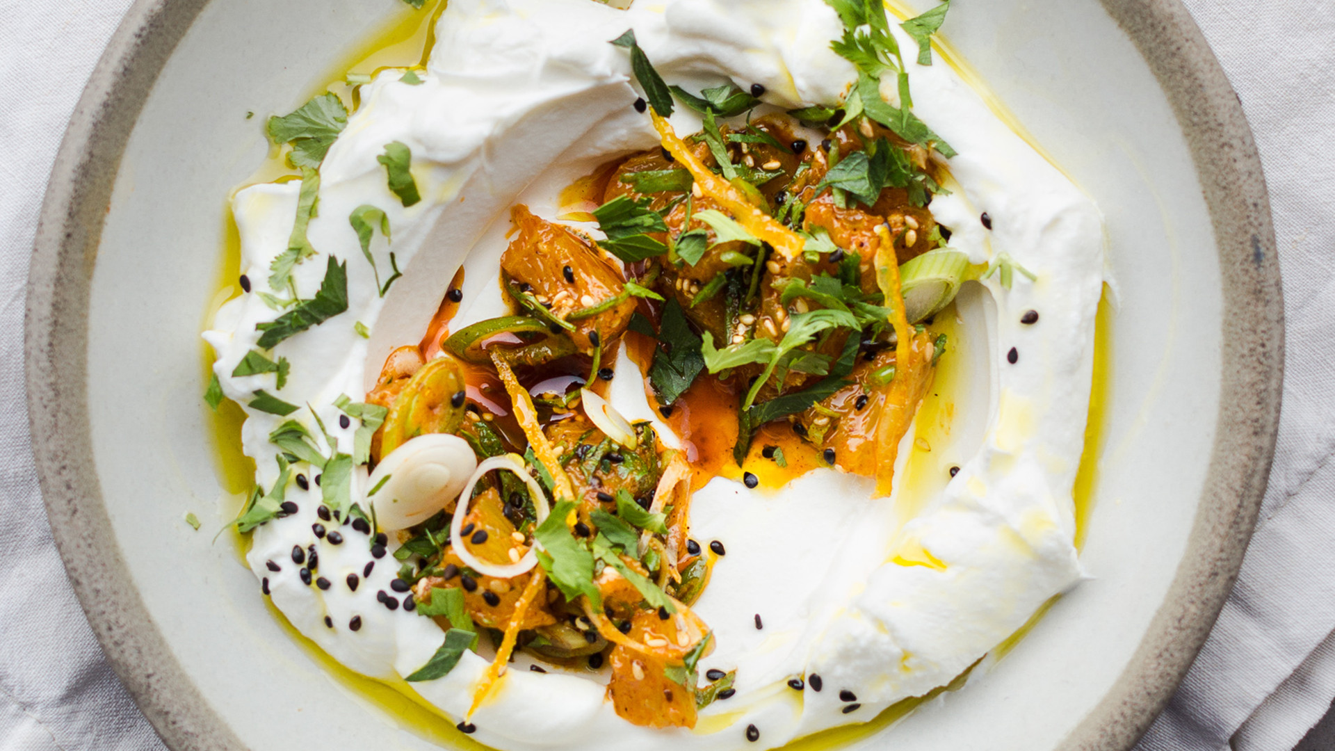 Bubala, Spitalfields: restaurant review – Labneh, orange salsa, togarashi, and candied orange