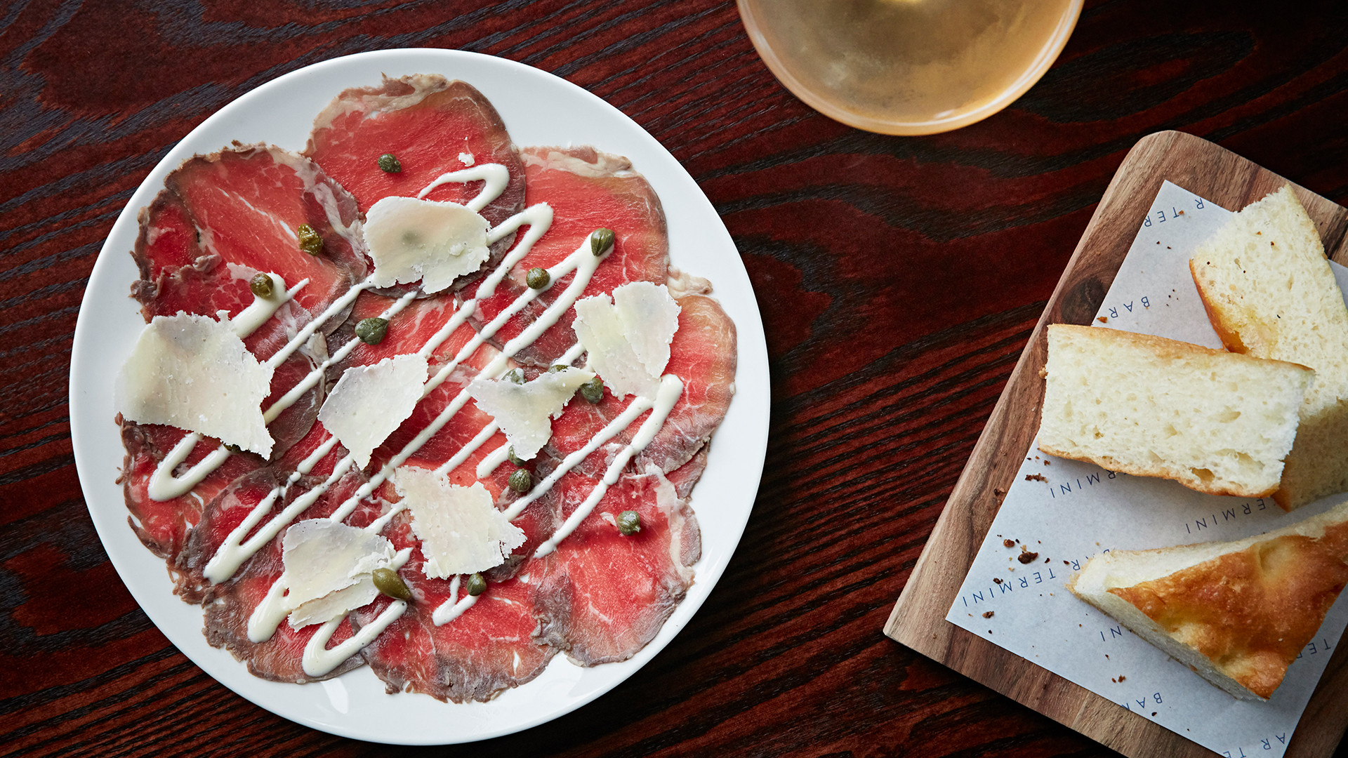 Beef carpaccio at Bar Termini