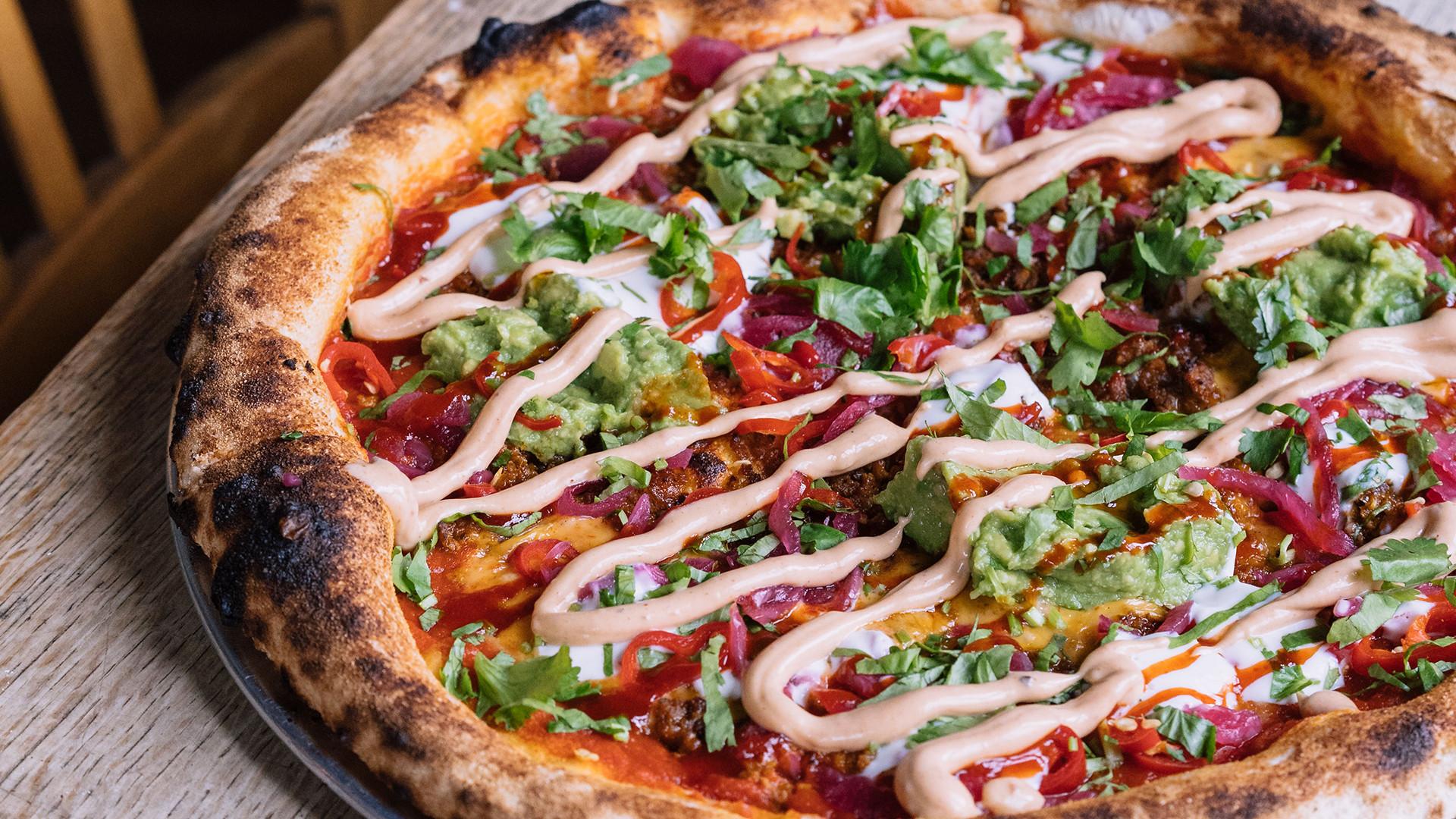 Club Mexicana's nacho pizza