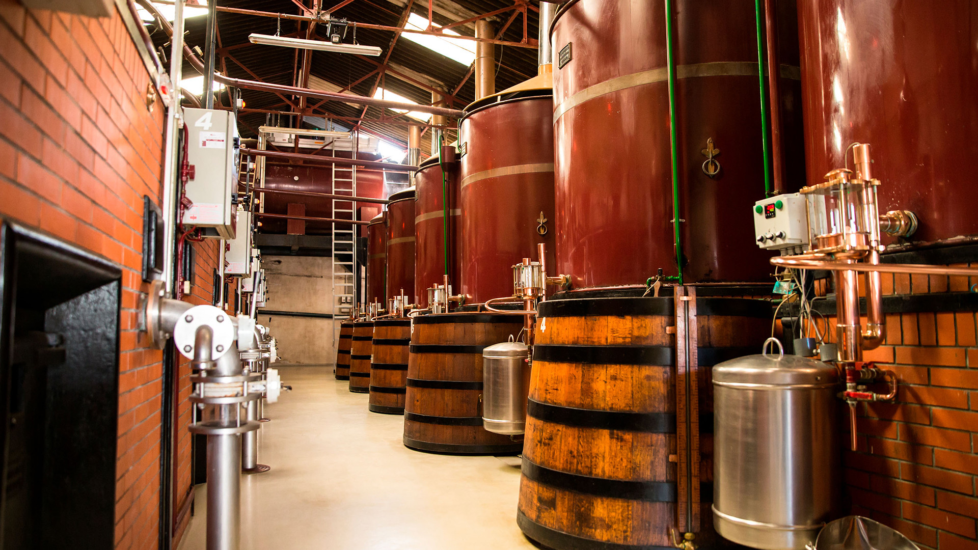 A still in the Citadelle distillery