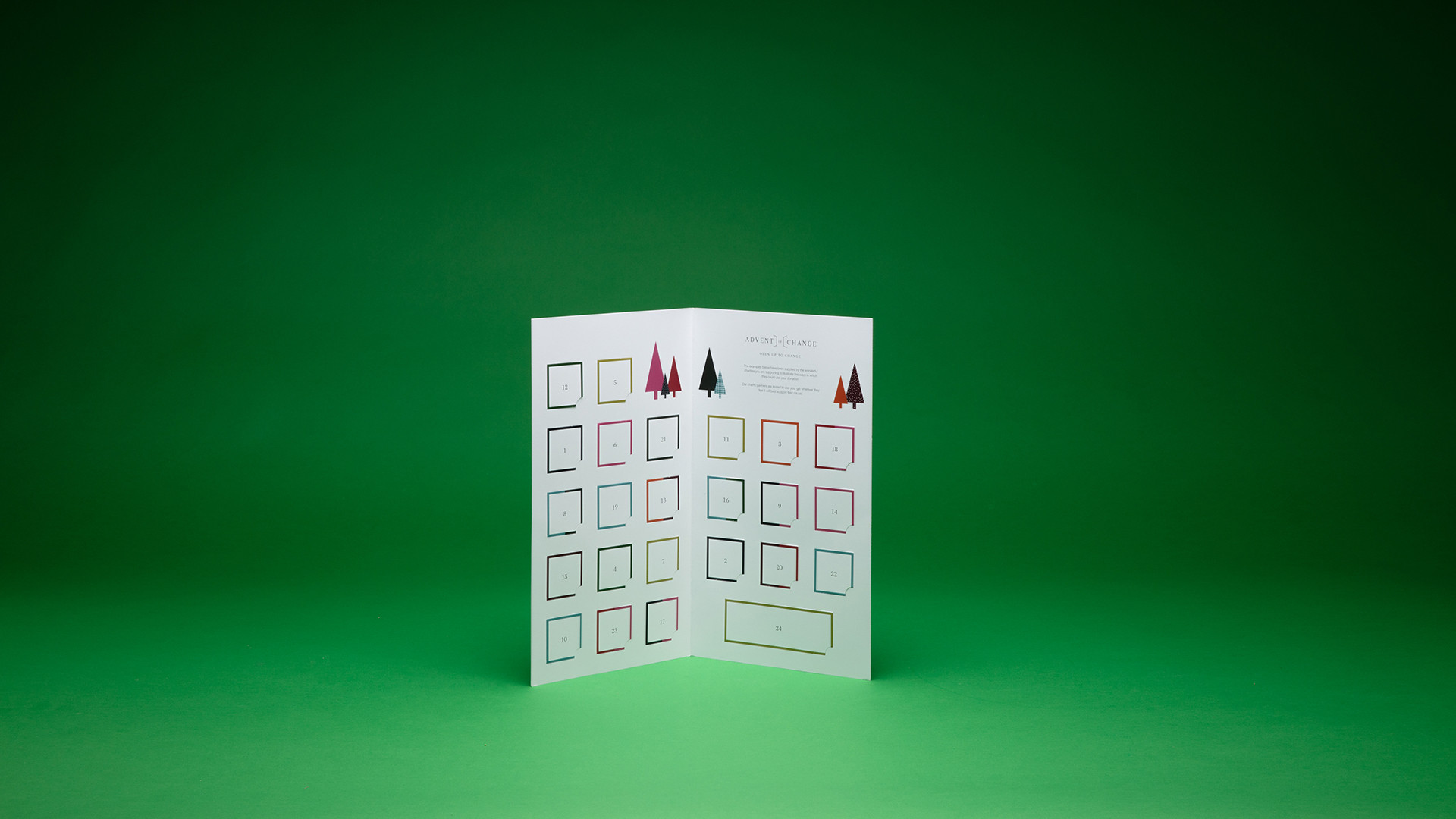 Advent of Change charity advent calendar, £16.95