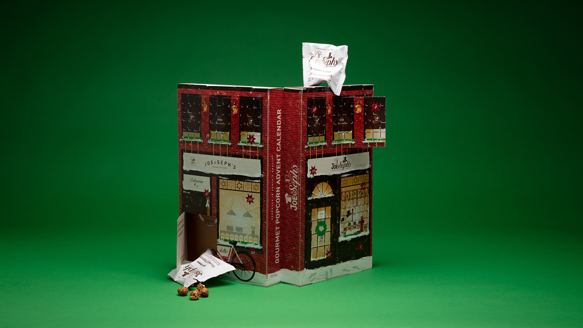 Joe and Seph's Gourmet Popcorn advent calendar, £25