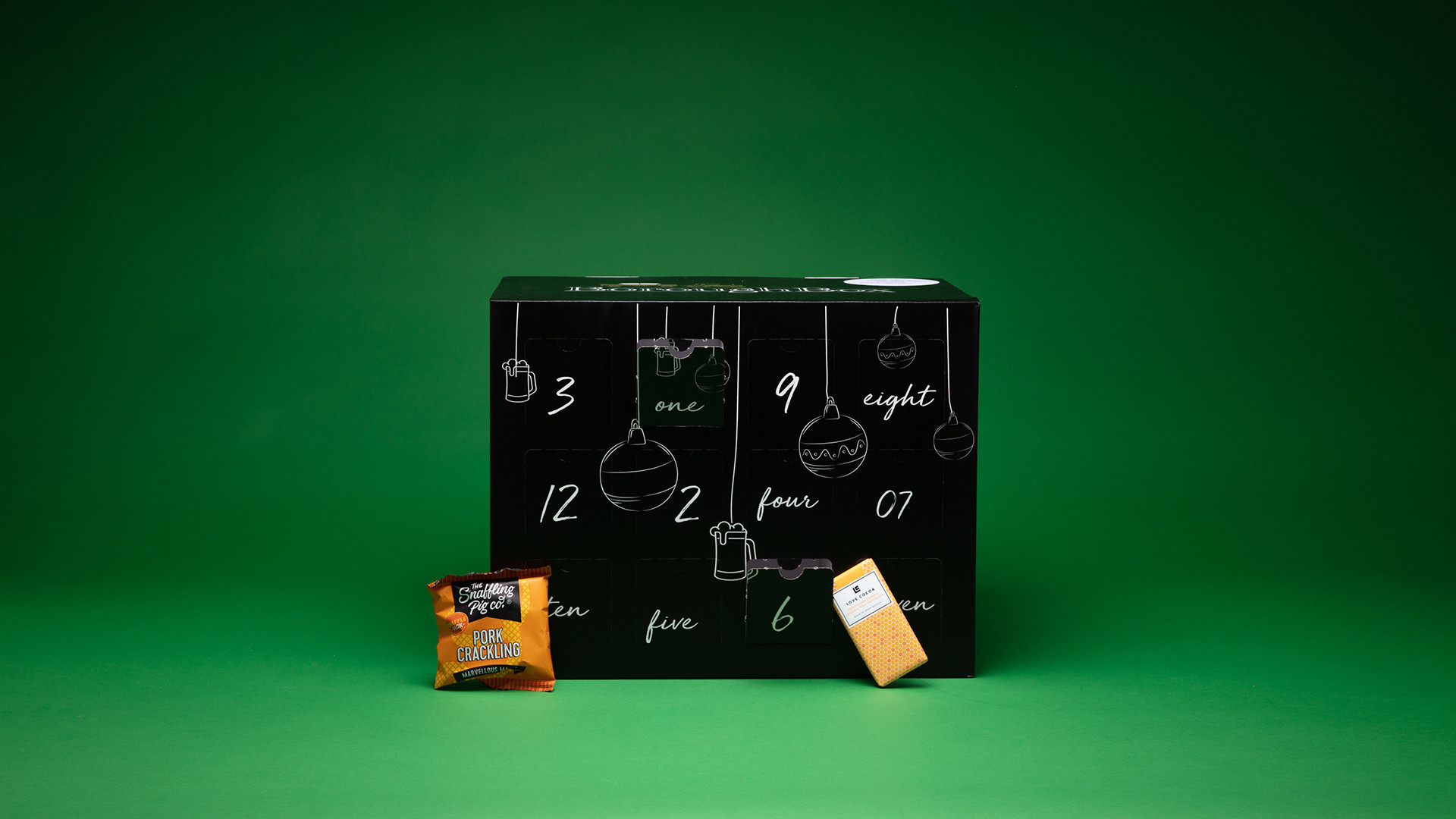 Borough Box Christmas snacking feast advent calendar, £79.99