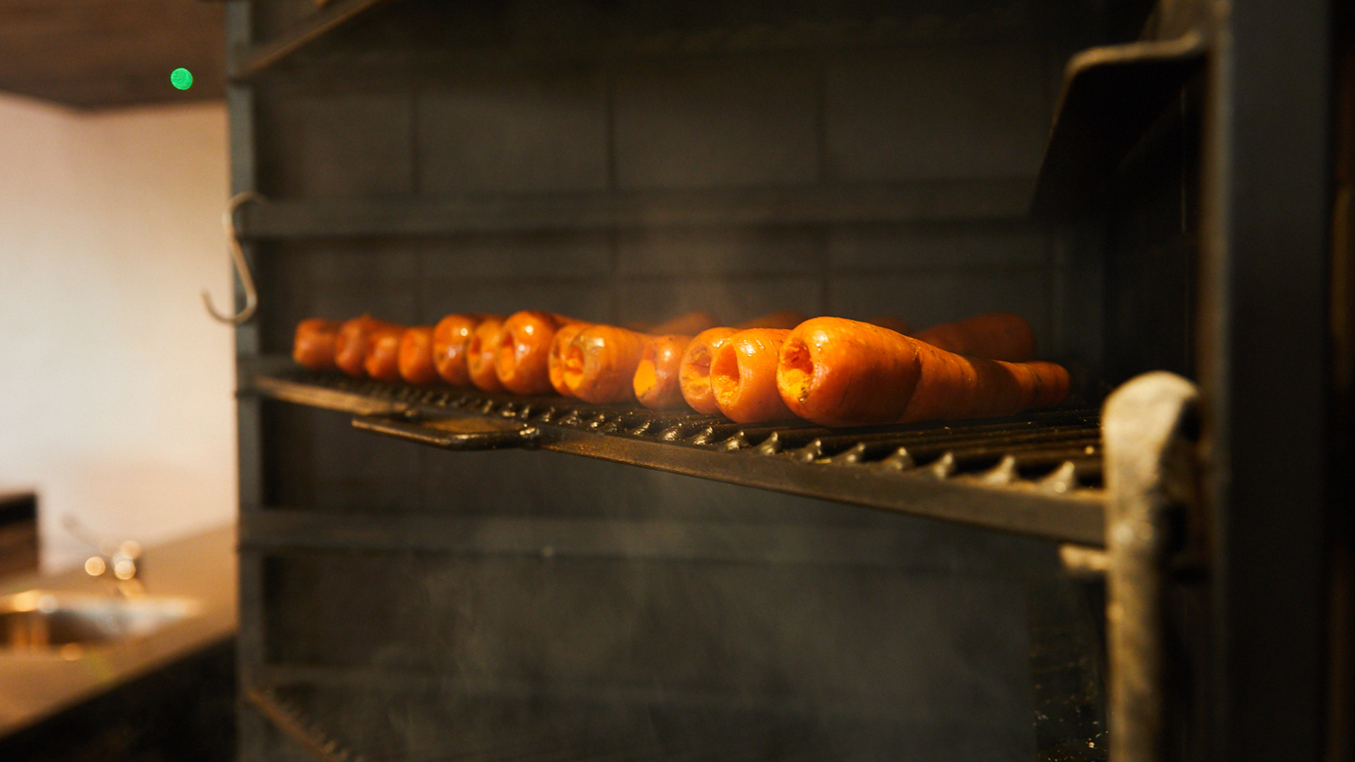 Carrots on the grill at Silo