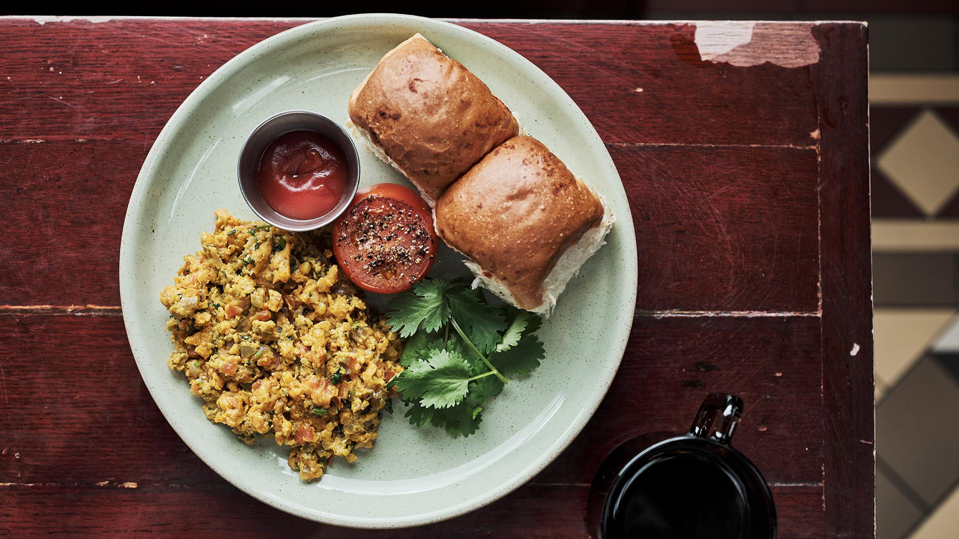 Vegan menu at Dishoom
