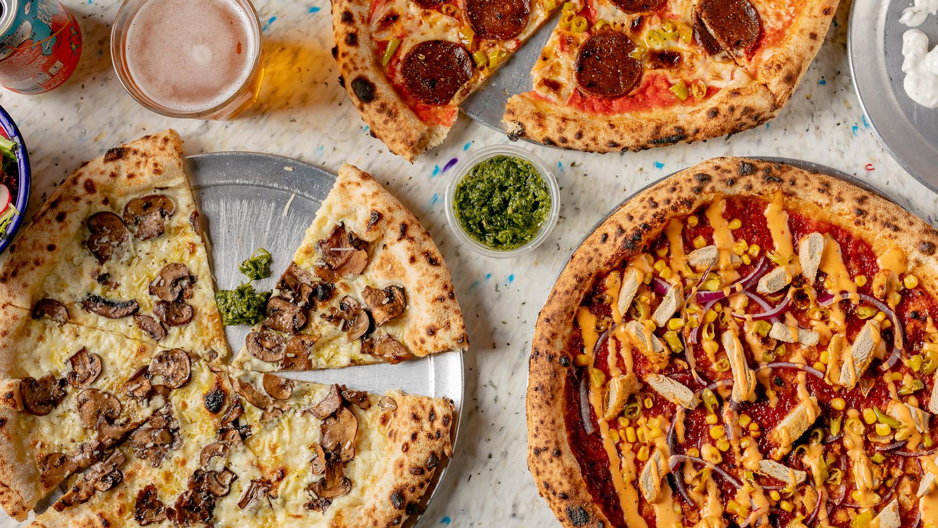 Yard Sale Pizza vegan menu