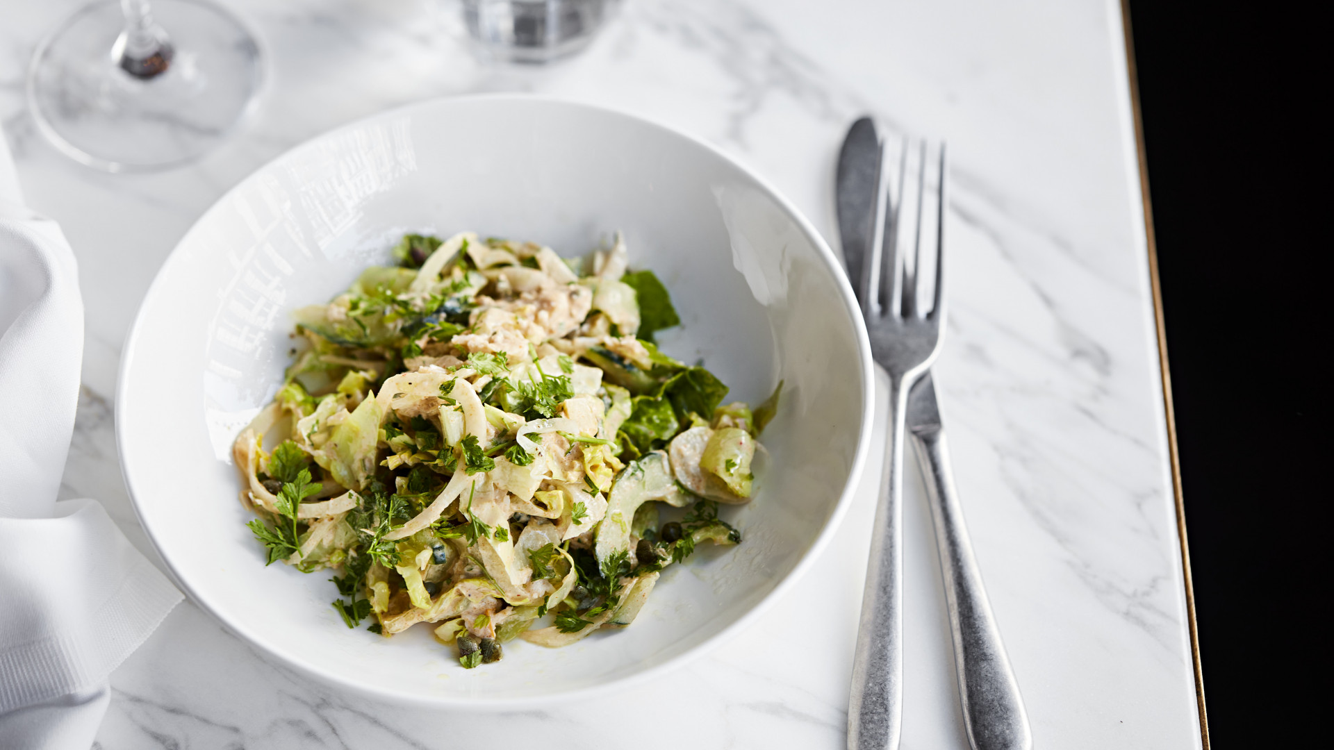 Rondo, Holborn | crab and sauerfennel salad